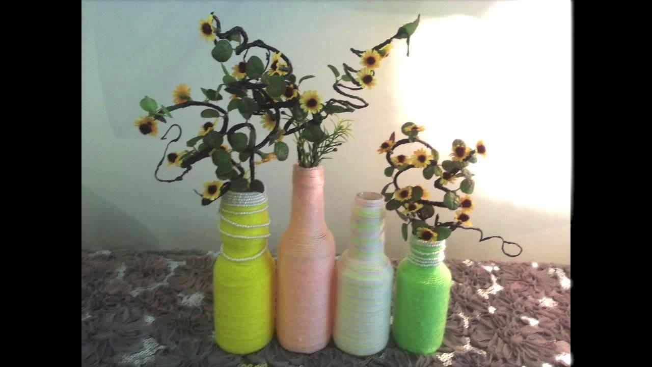 Diy Home Room Decoration Recycle Old Bottle Into