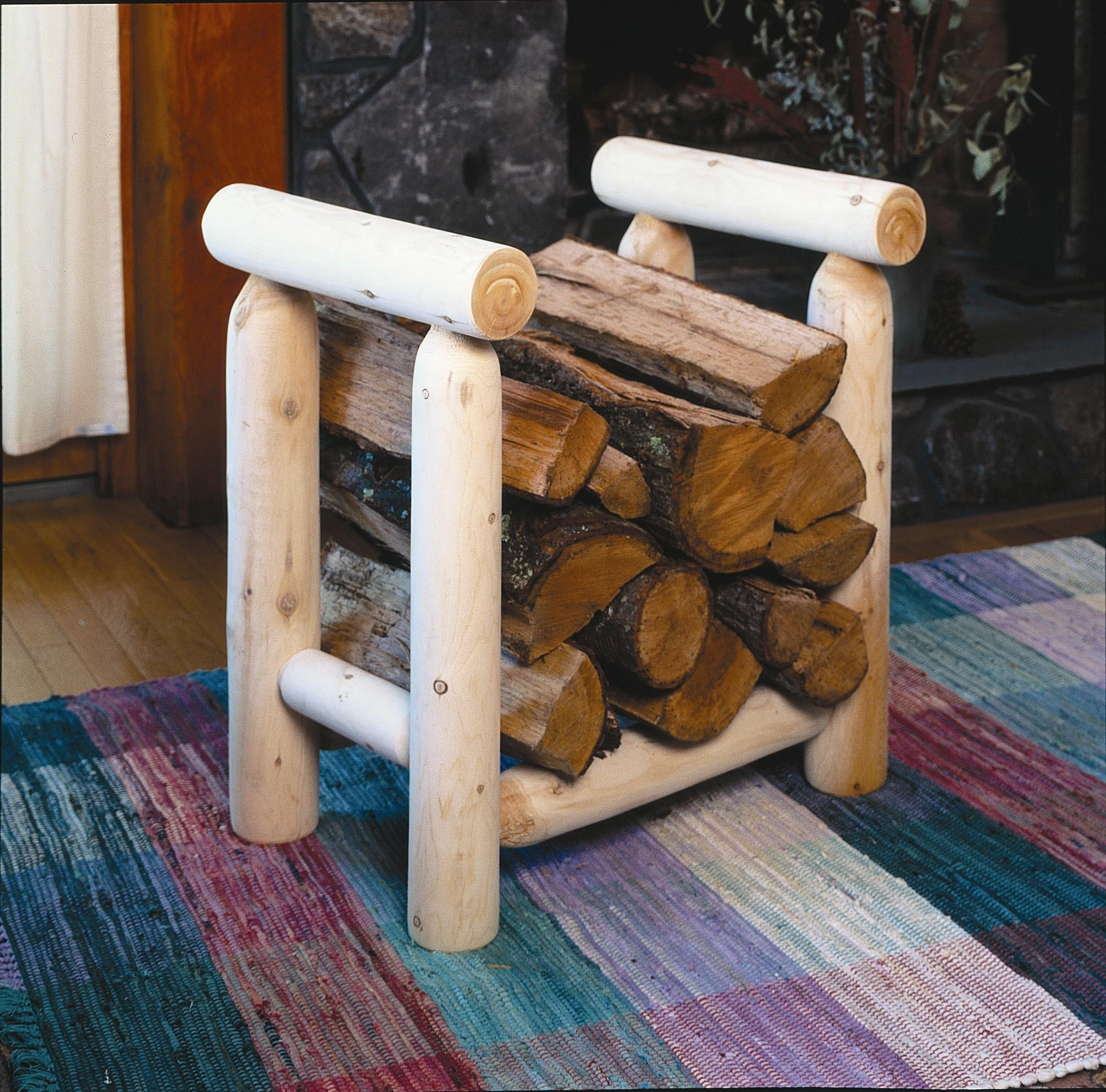 Diy Homemade Indoor Firewood Rack Rustic Modern Living