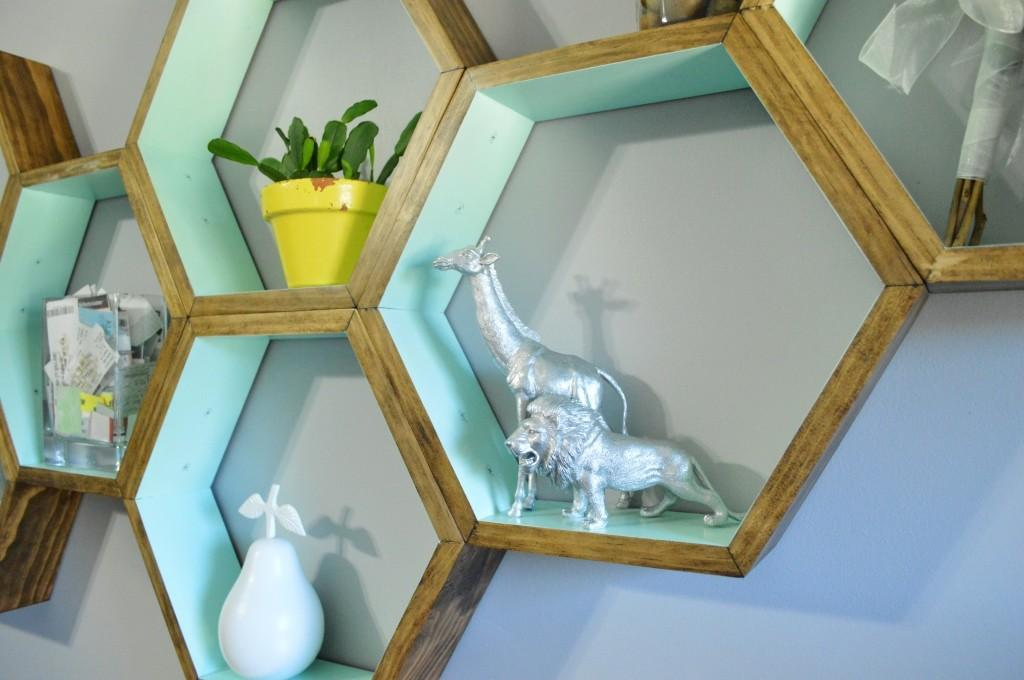 Diy Honeycomb Shelves Loving Here