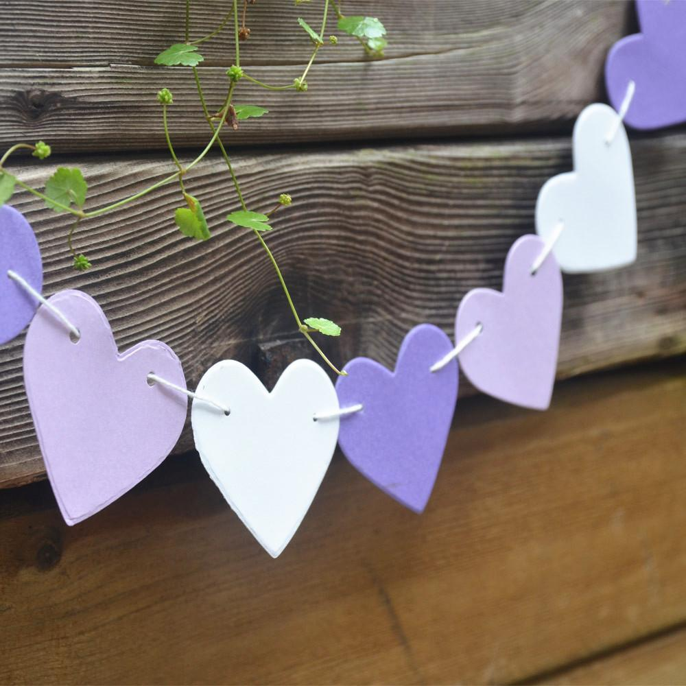 Diy Hot Sale Colorful Hanging Paper Garlands String Chain