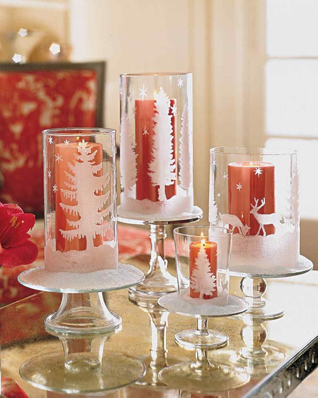Diy Ideas Candle Holder Glittered Candleholders