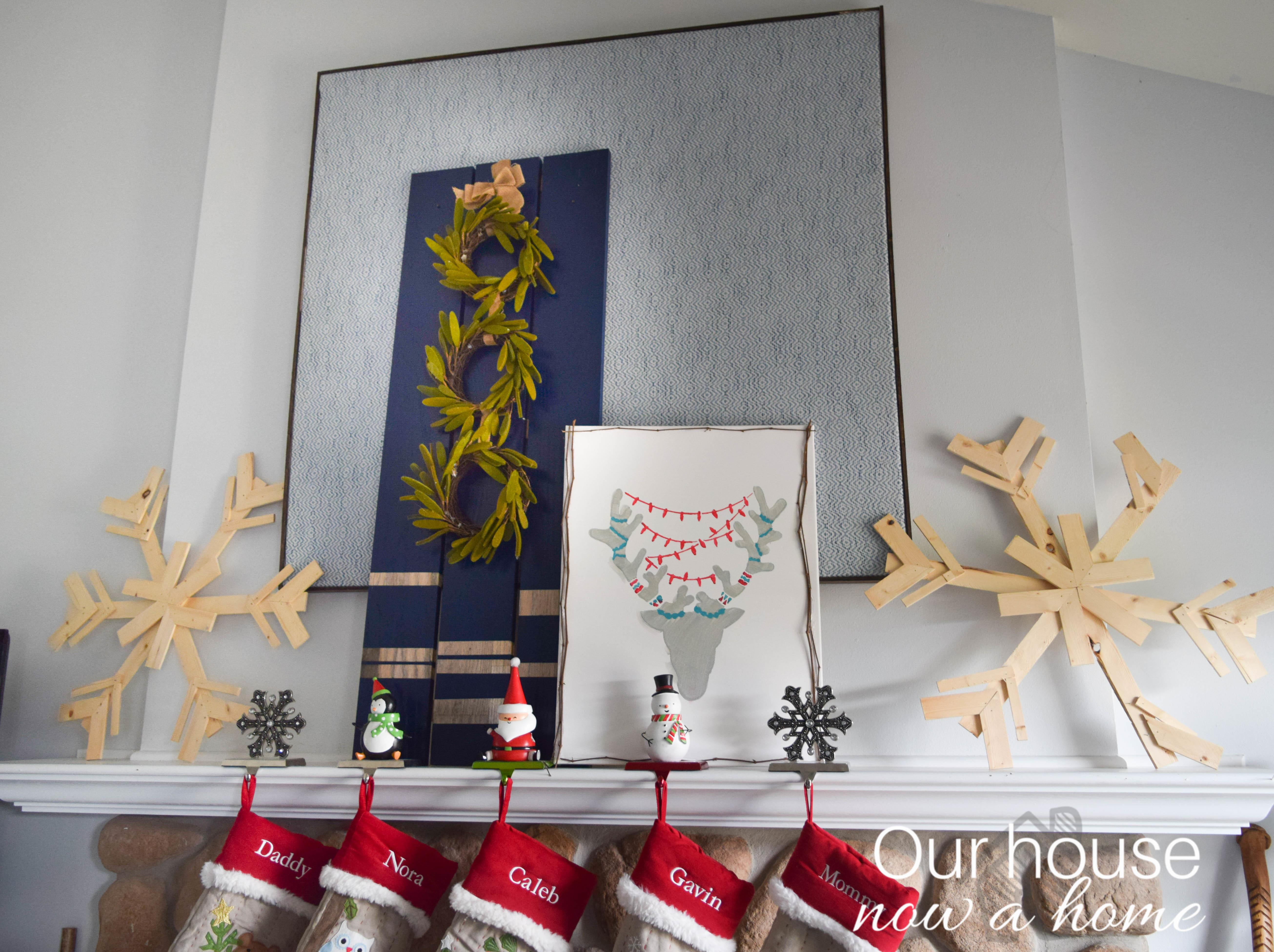Diy Ideas Decorate Christmas Fireplace Mantel Our
