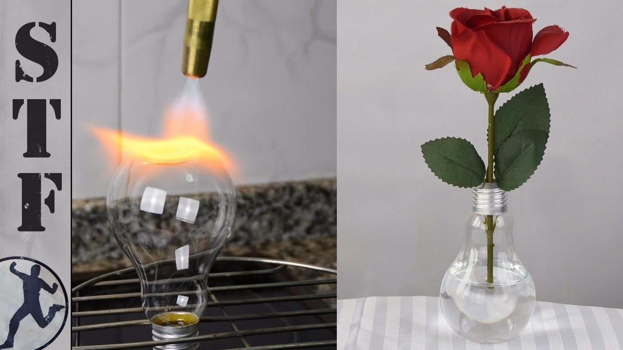 Diy Ideas Light Bulb Vase Flat Bottom
