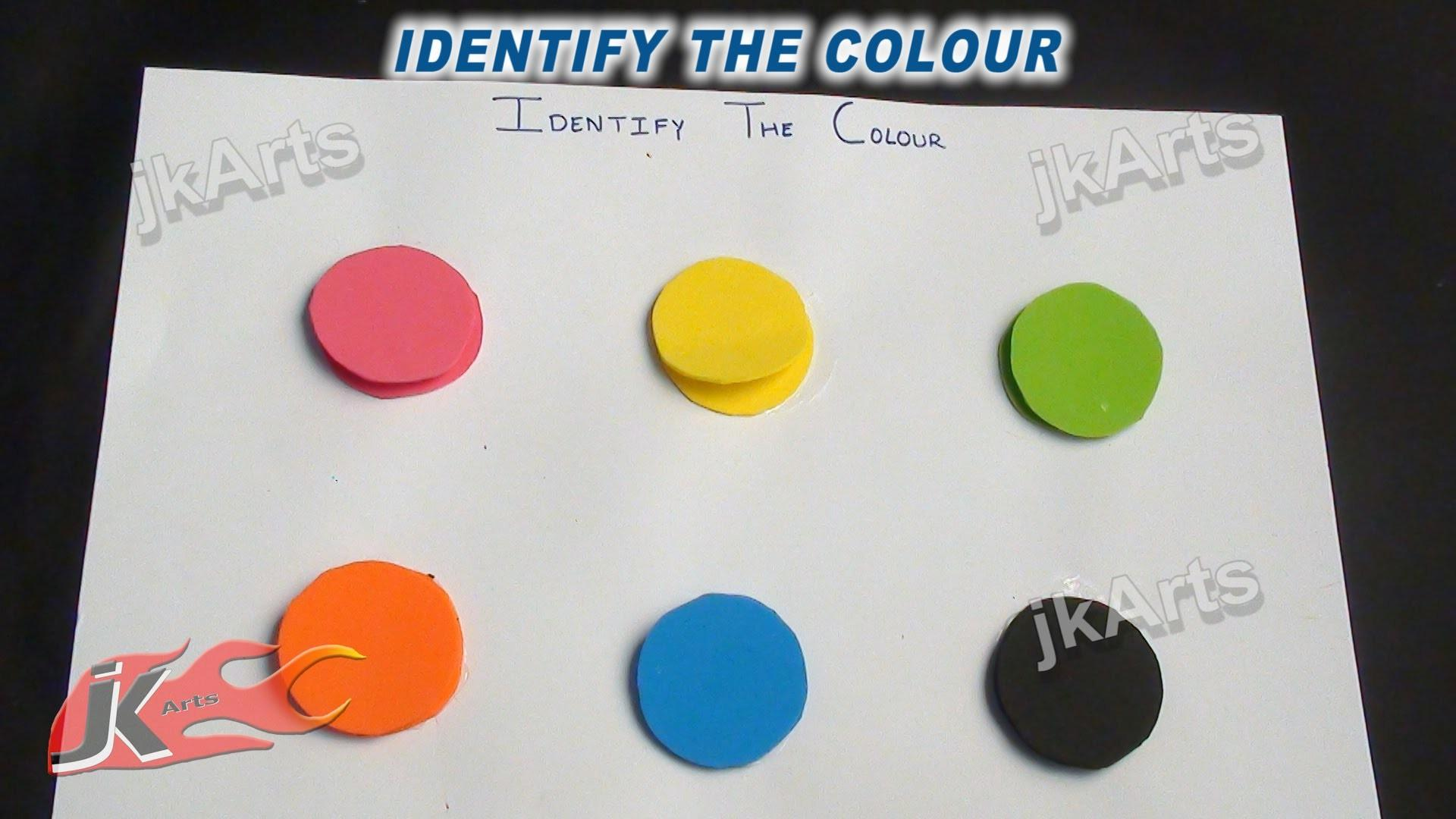 Diy Identify Color Game Learning Kids