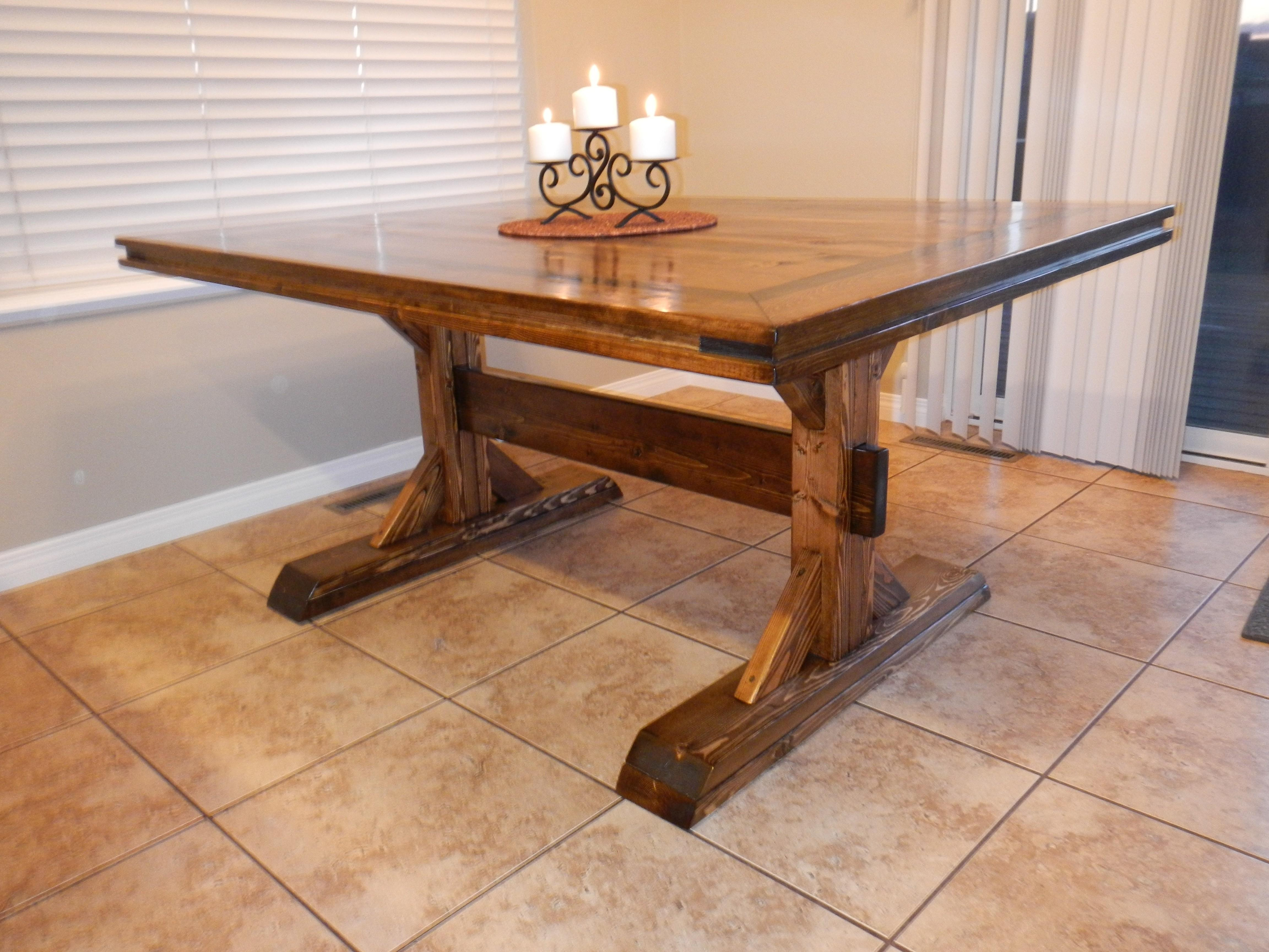Diy Industrial Dining Room Table Back Home Design