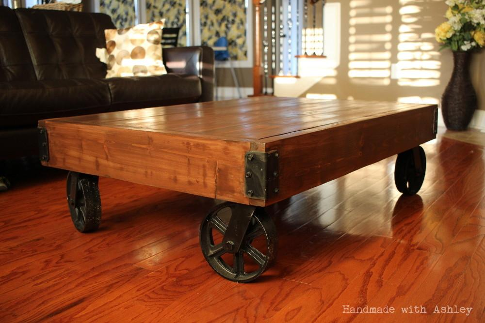 Diy Industrial Factory Cart Coffee Table Shanty Chic