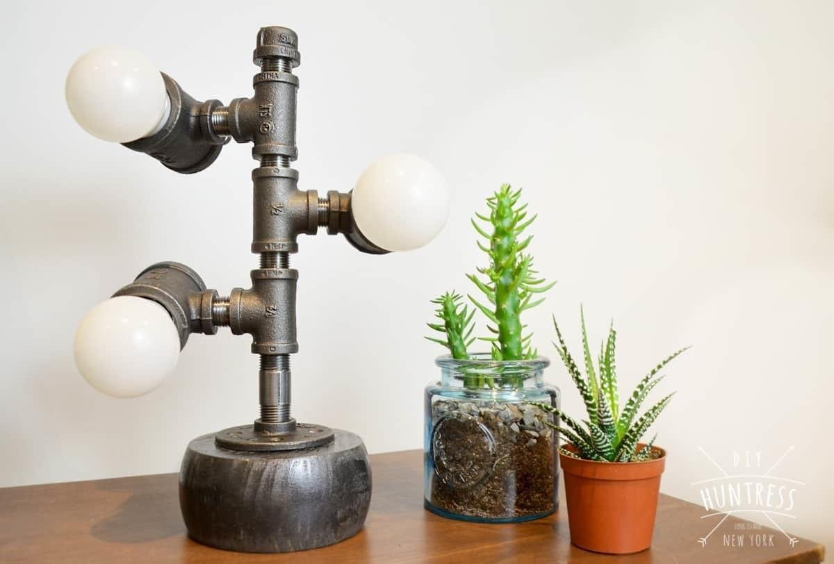 Diy Industrial Pipe Lamp Huntress