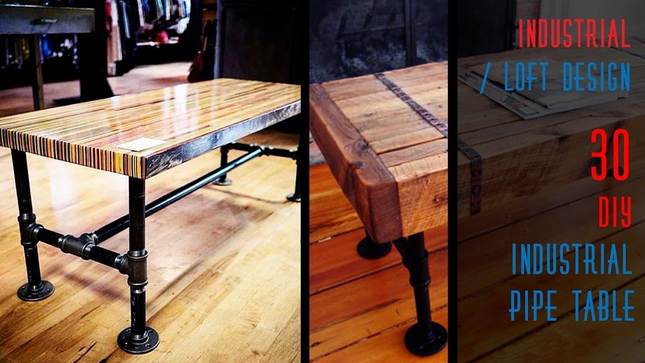 Diy Industrial Pipe Table