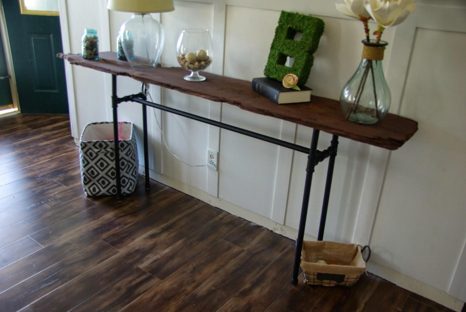 Diy Industrial Rustic Console Table Our House Now Home