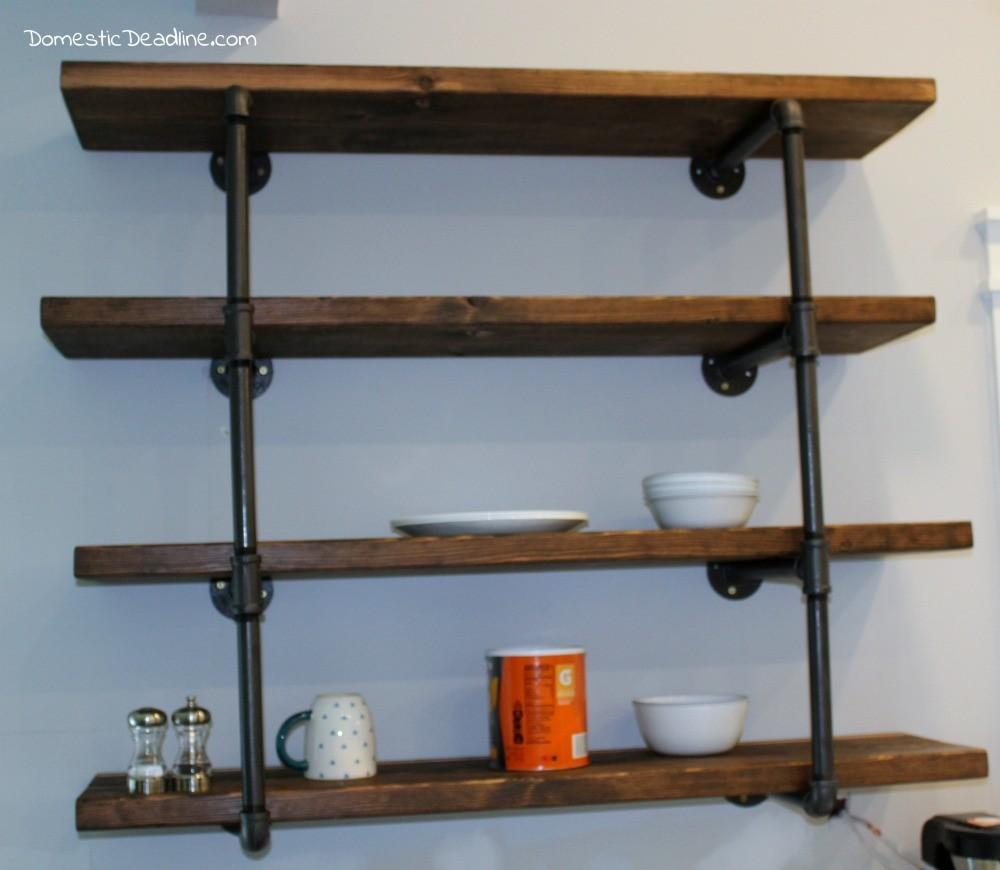 Diy Industrial Shelving Farmhouse Kitchen Fixer Upper