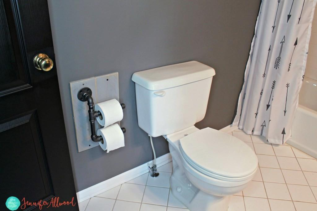 Diy Industrial Toilet Paper Holder Boys Bathroom