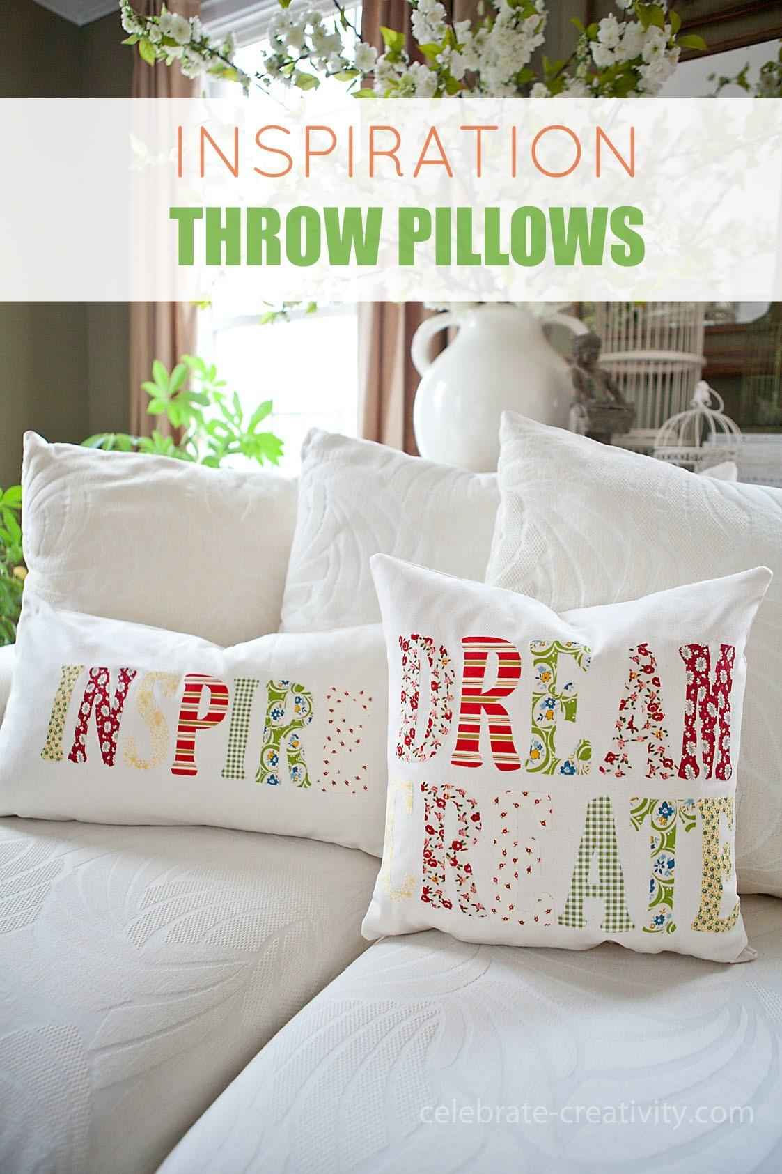 Diy Inspiration Throw Pillows Tutorial Ella Claire