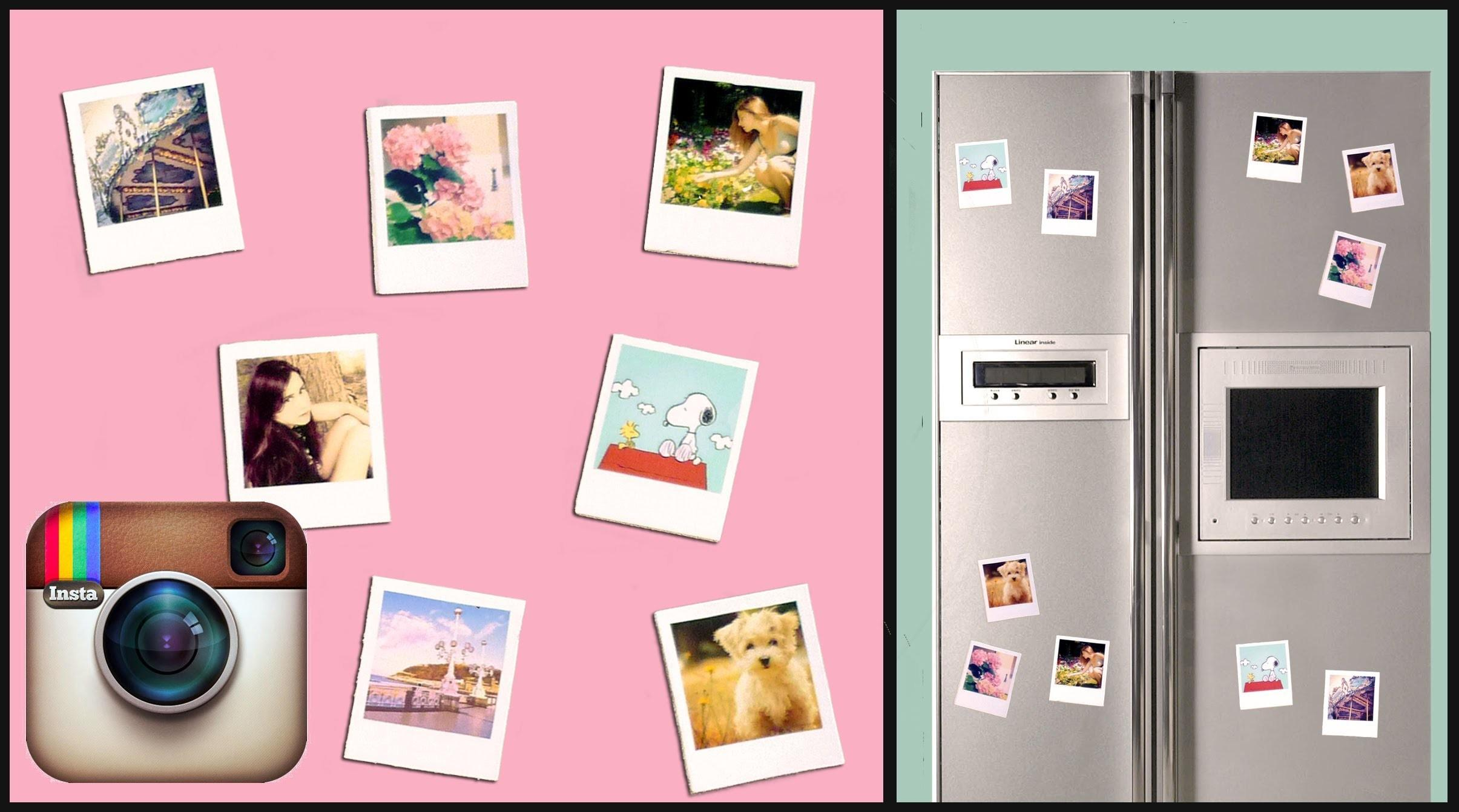 Diy Instagram Polaroid Magnets Super Simple Under