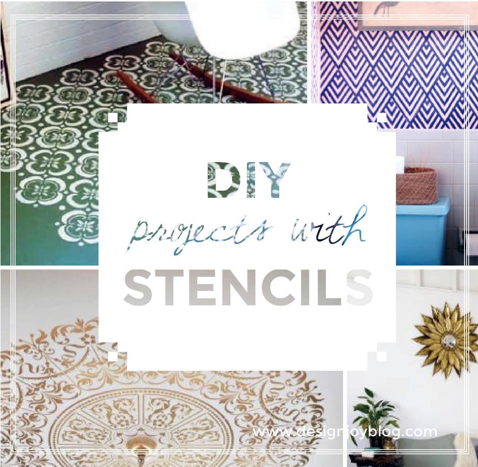 Diy Interior Design Makeovers Using Stencils Joy