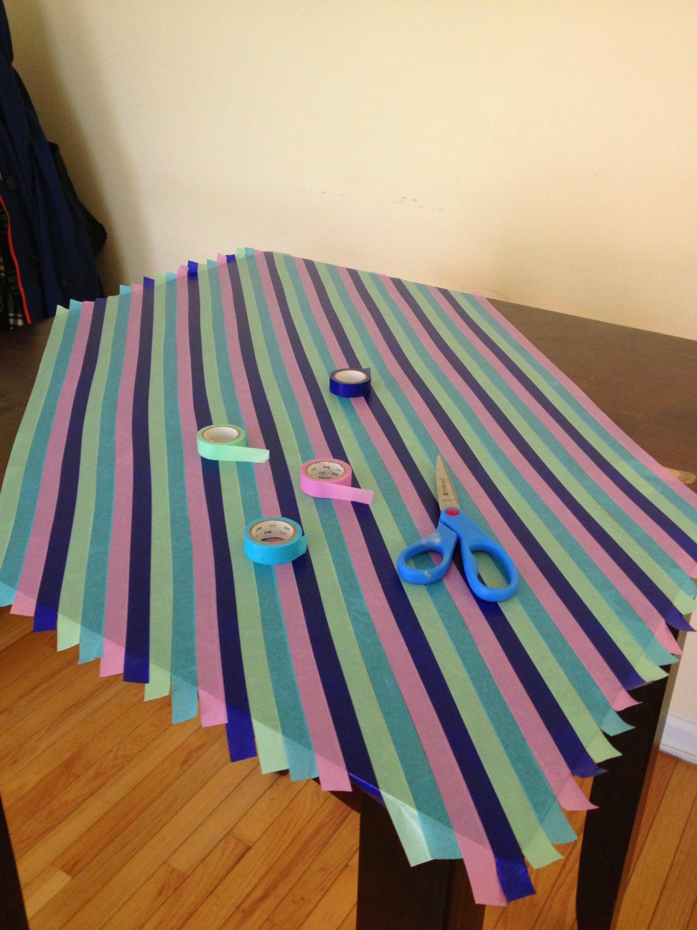 Diy Japanese Paper Washi Tape Table Top Her Philly