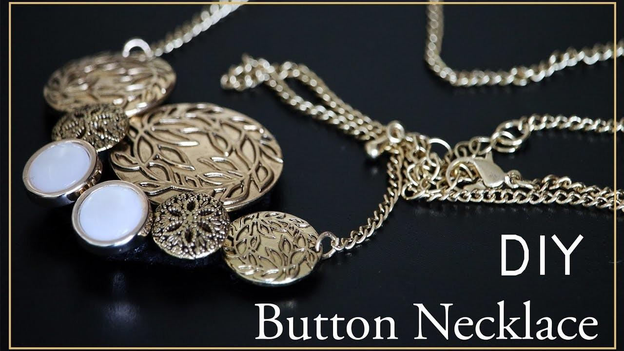 Diy Jewelry Button Necklace
