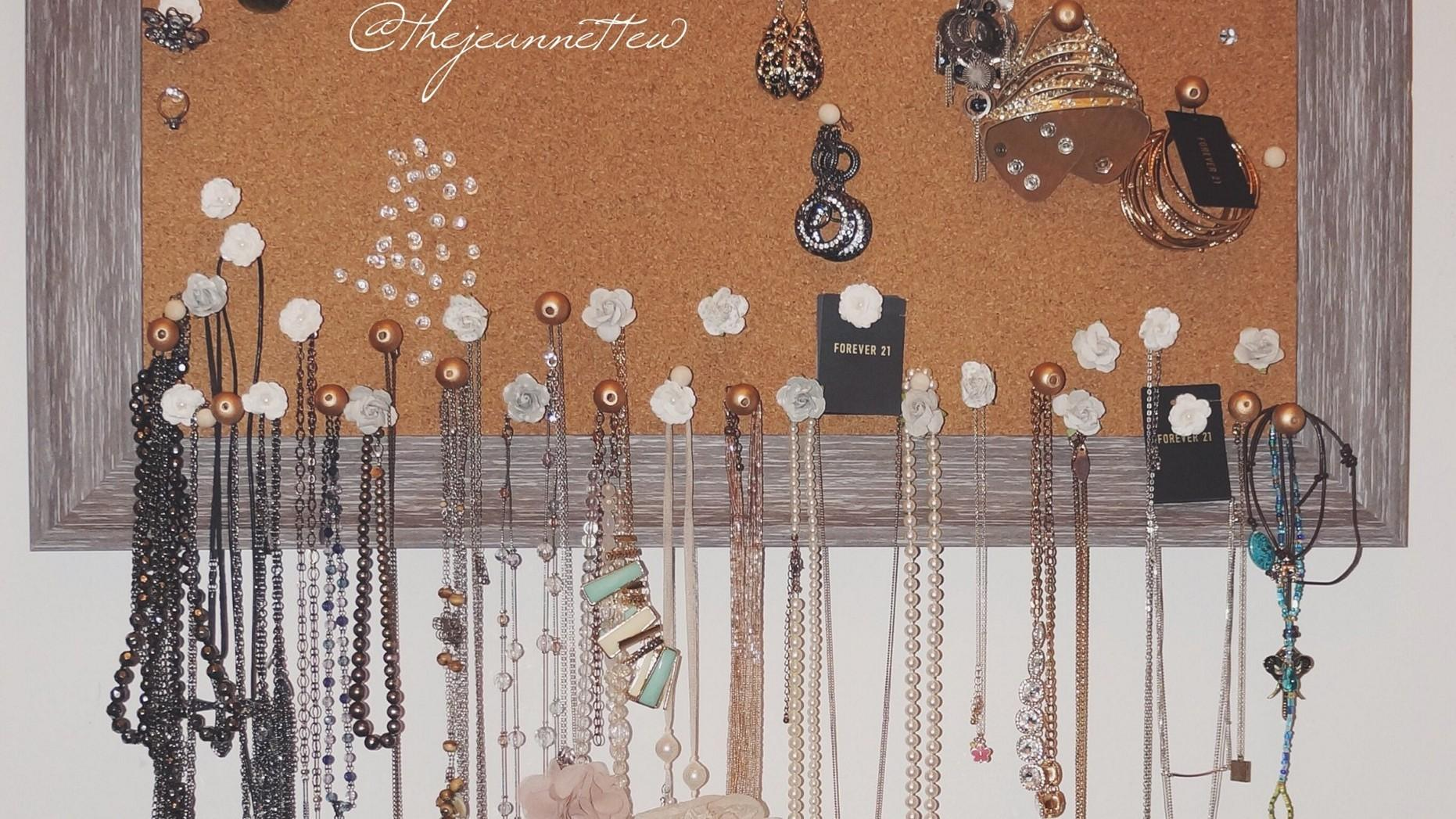 Diy Jewelry Holder Cork Board Pixshark
