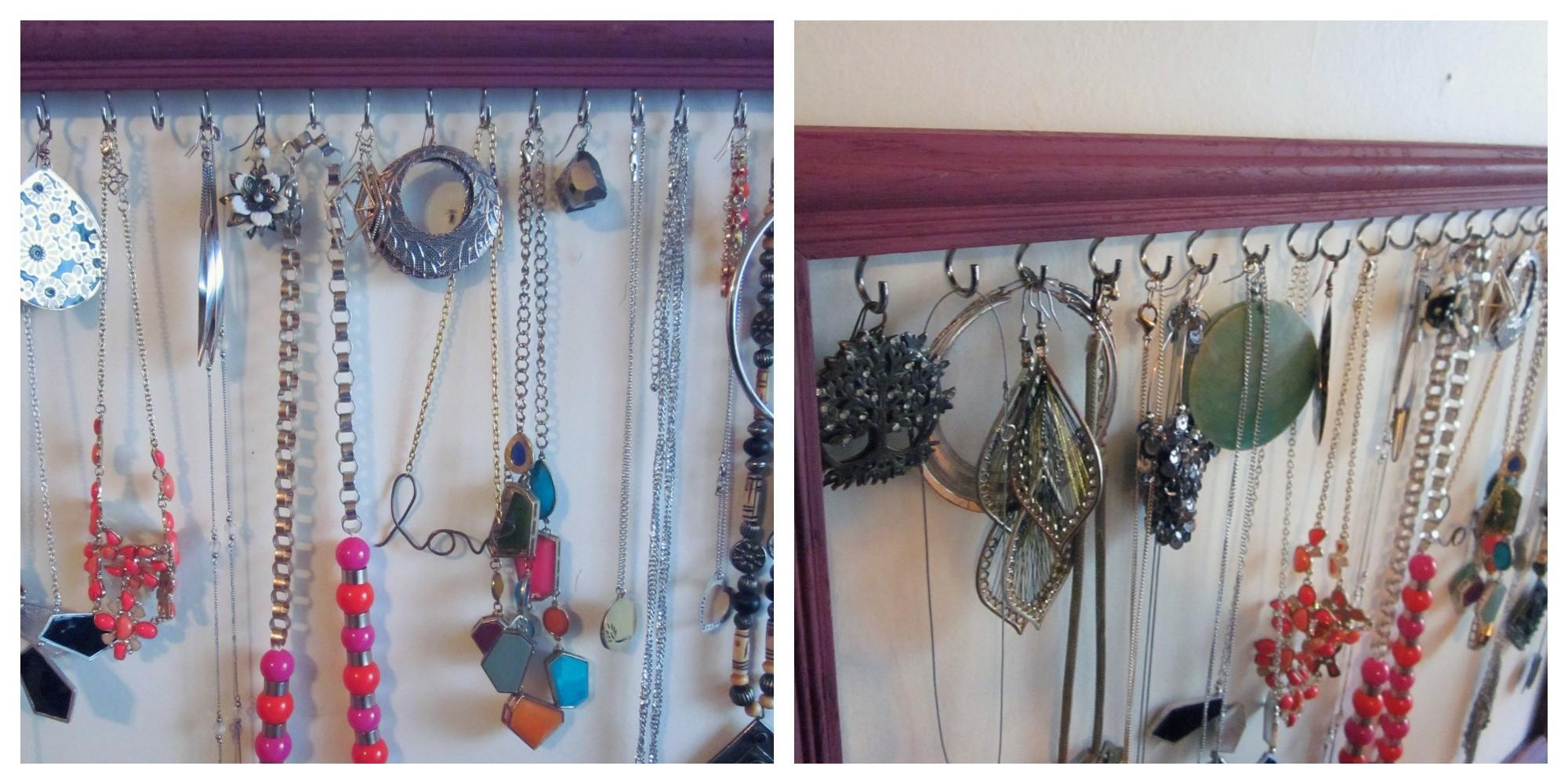Diy Jewelry Holder Display Using Old Frame Save