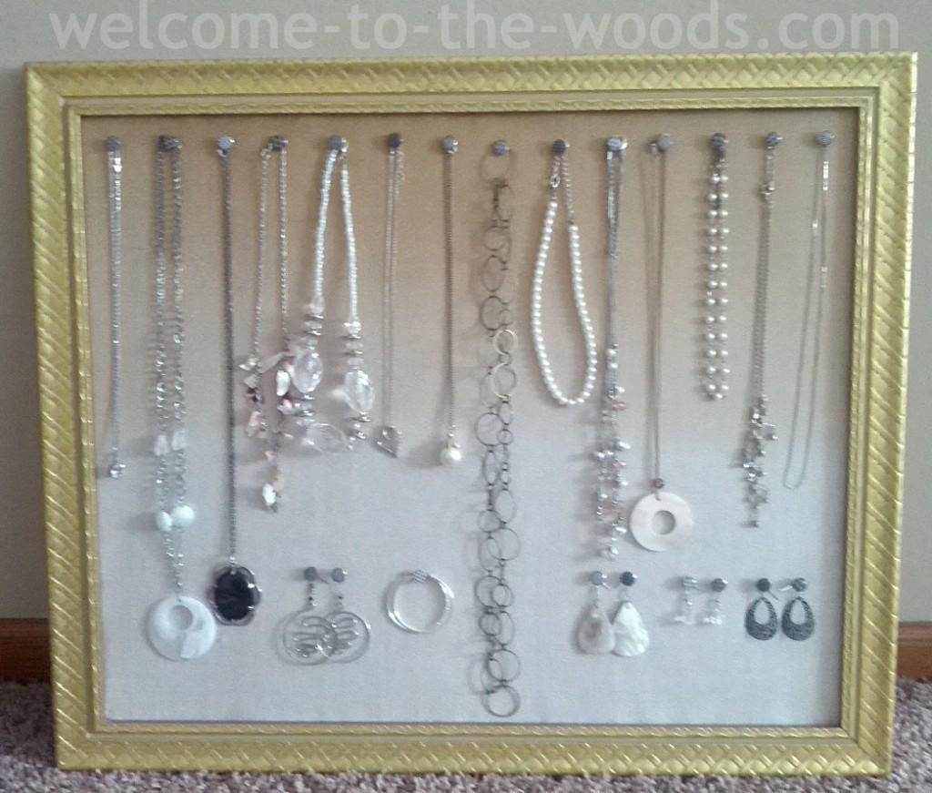 Diy Jewelry Organizer Welcome Woods