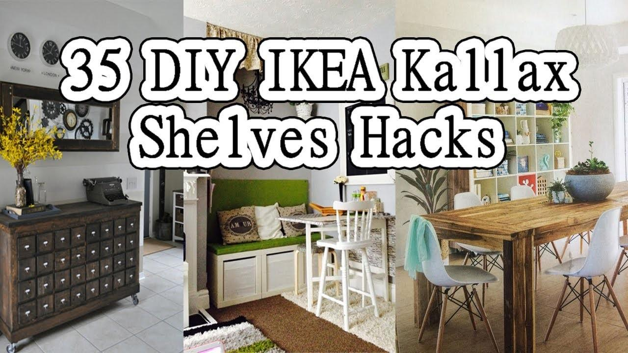 Diy Kallax Shelves Hacks Could Try
