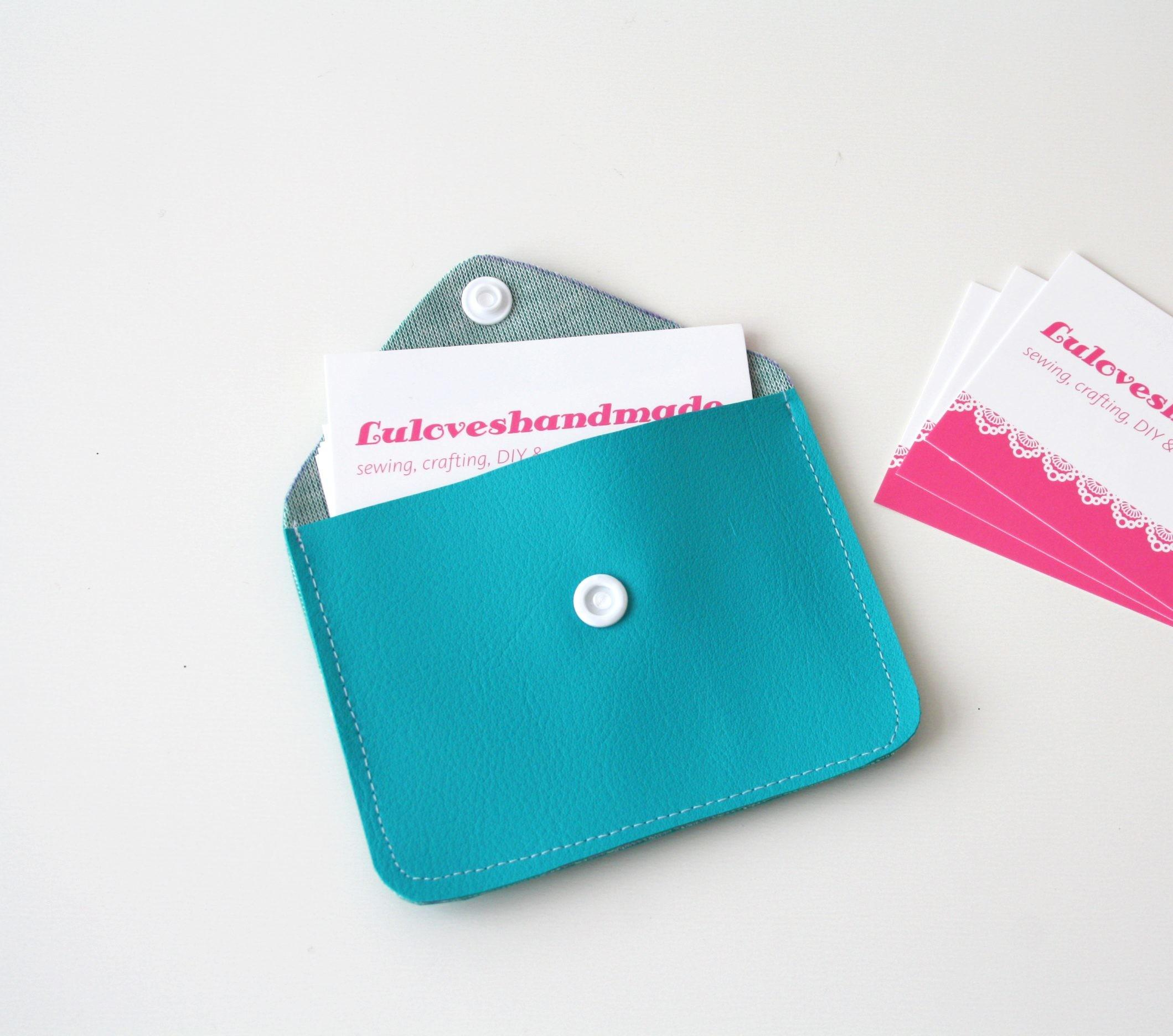 Diy Kamsnaps Faux Leather Business Card Holder