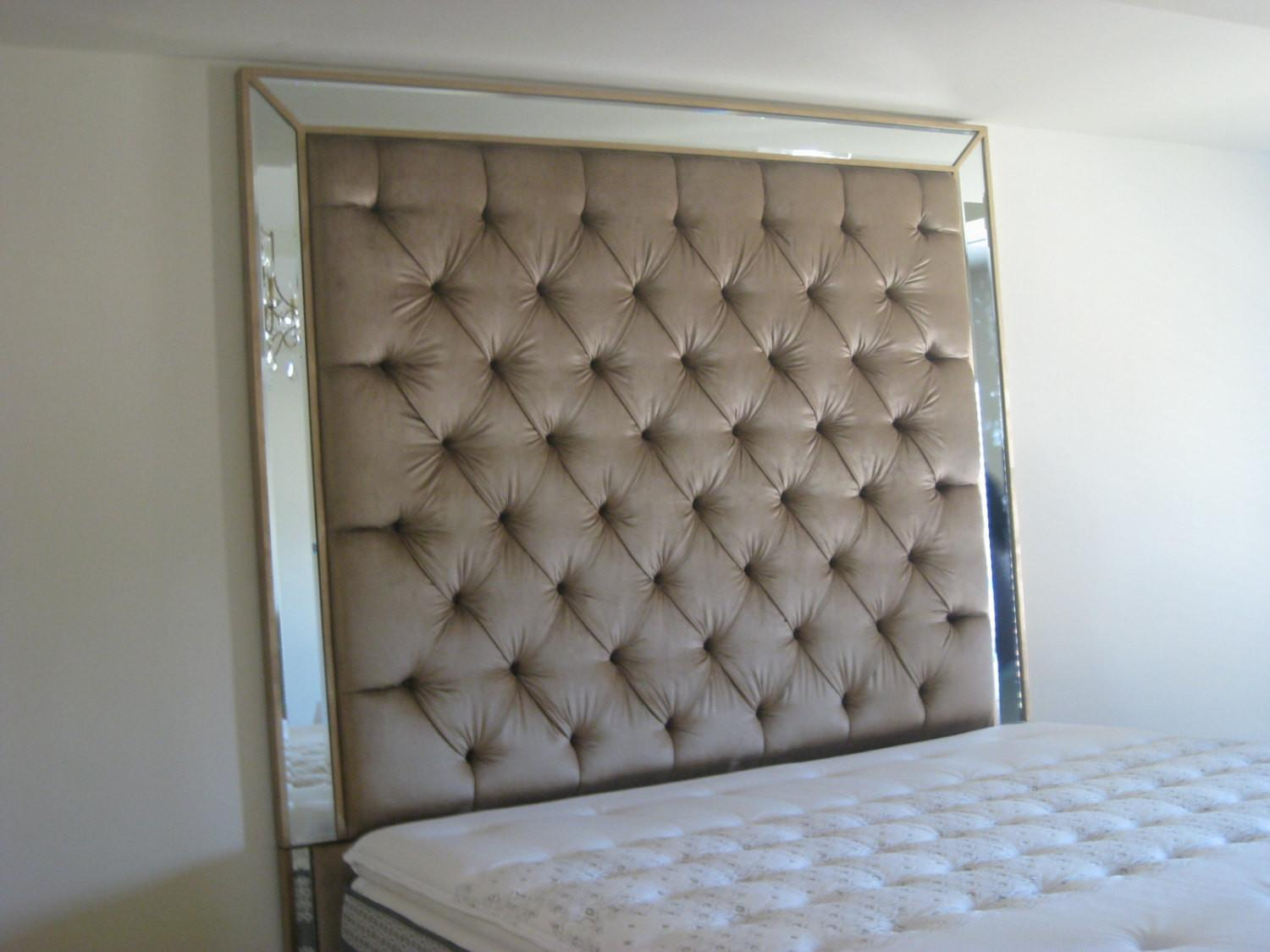 Diy King Tufted Headboard Floral Design Going