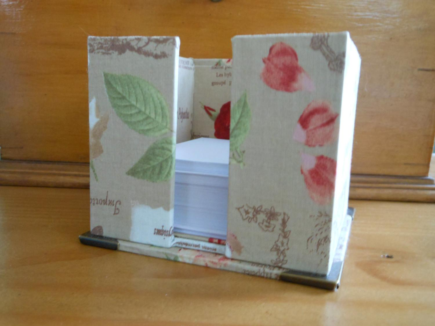 Diy Kit Paper Stand Desk Organizer Fabric Covered