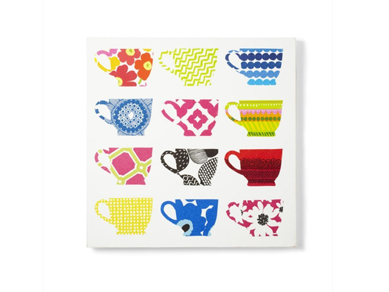 Diy Kitchen Art Napkin Teacups Canvas