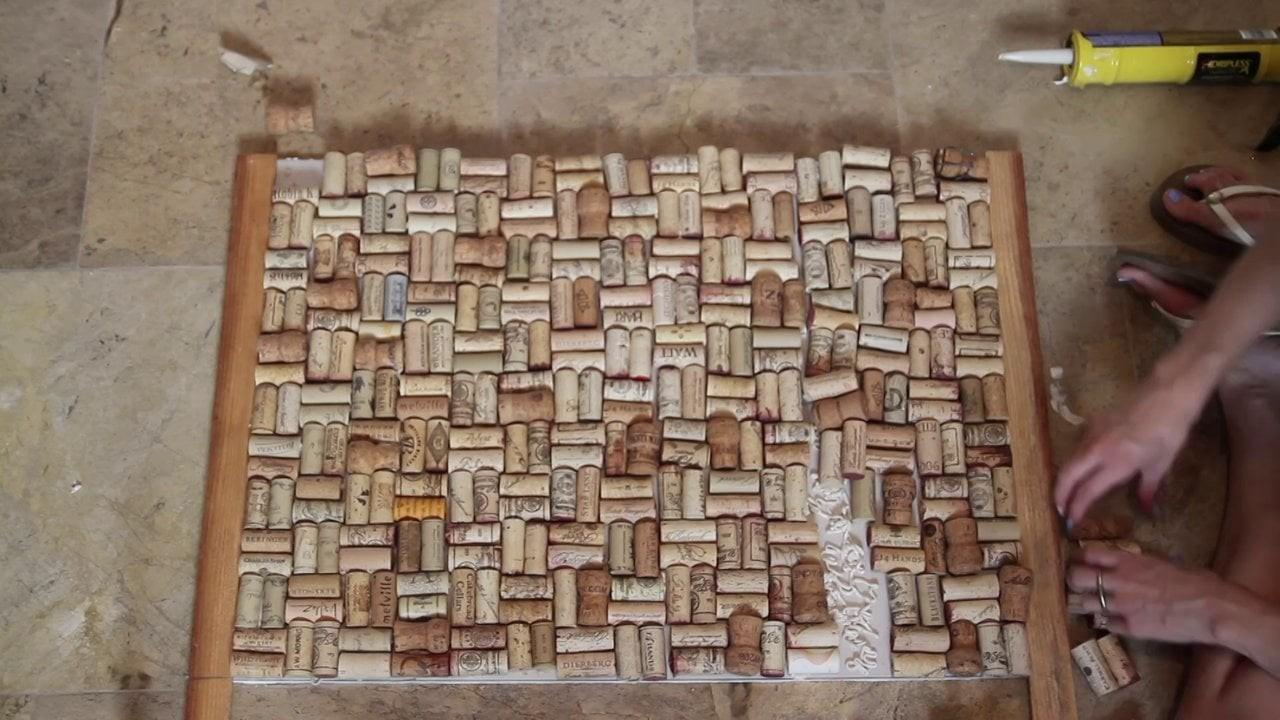 Diy Kitchen Wine Cork Backsplash Chalkboard Vimeo