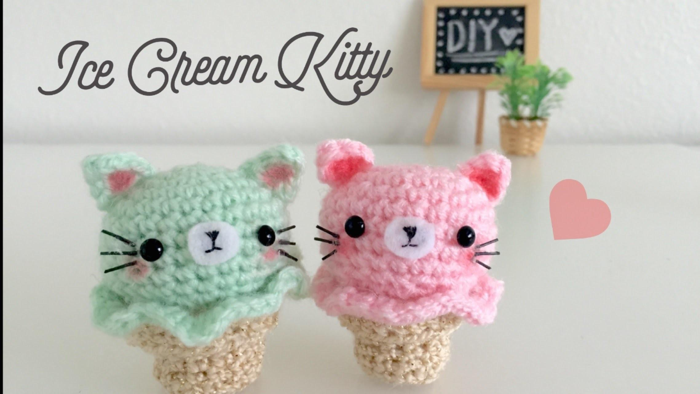 Diy Kitty Ice Cream Amigurumi Crochet Tutorial