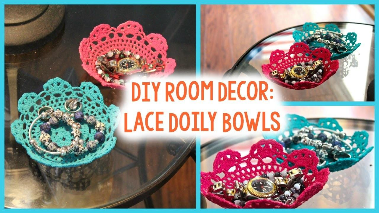 Diy Lace Doily Bowls Tumblr Inspired Easy