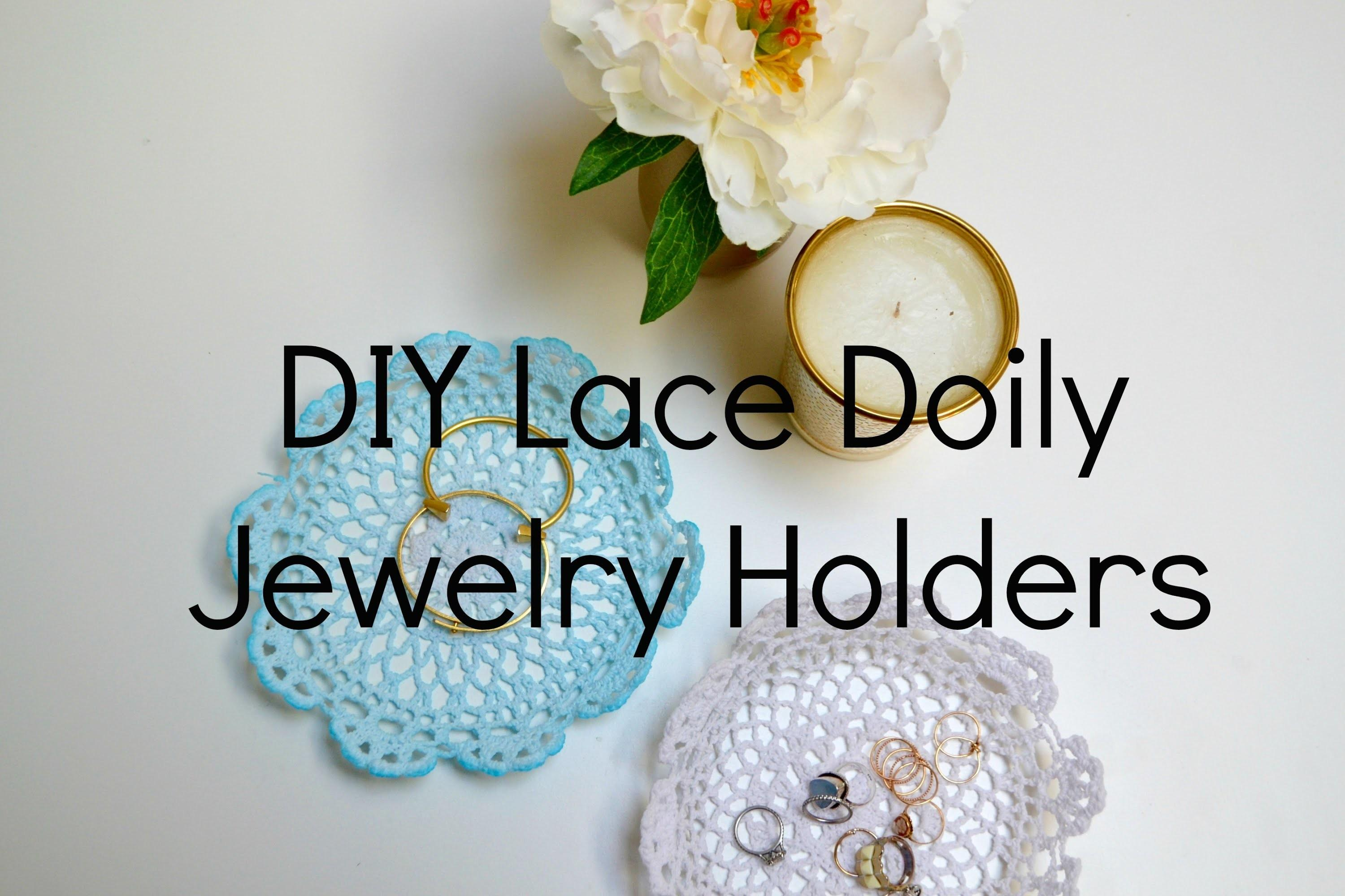 Diy Lace Doily Jewelry Holders