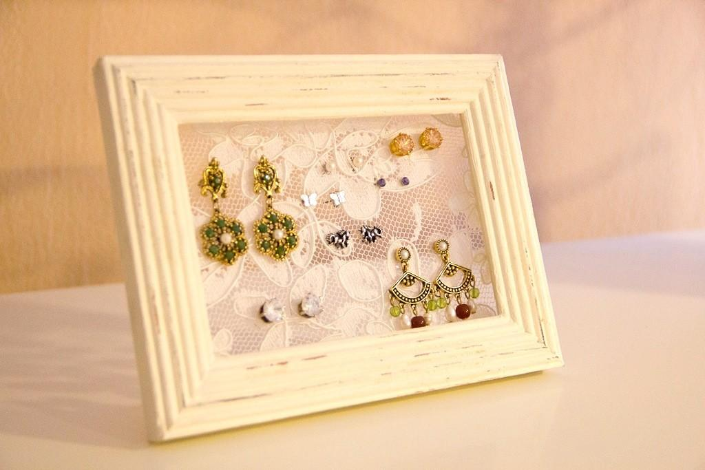 Diy Lace Frame Earring Holder Want Buy