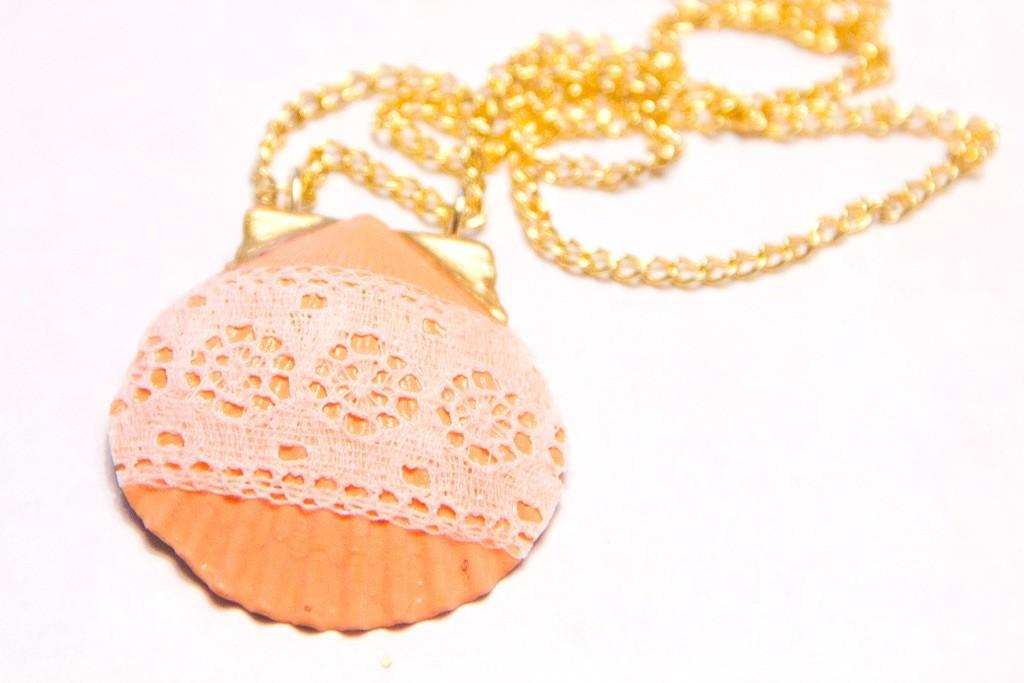 Diy Lace Seashell Pendant Necklace Want Buy