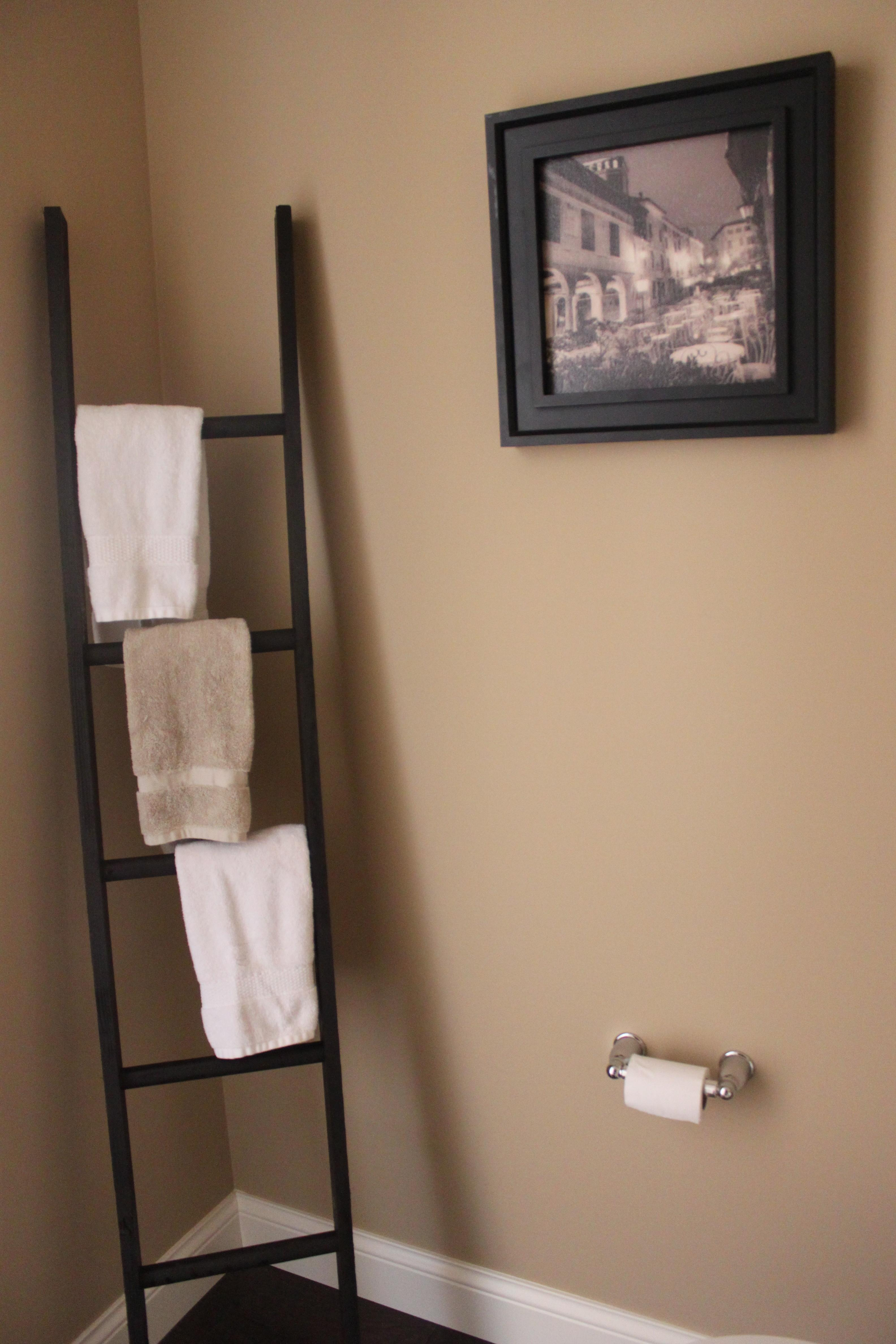 Diy Ladder Towel Rack Mommy Time