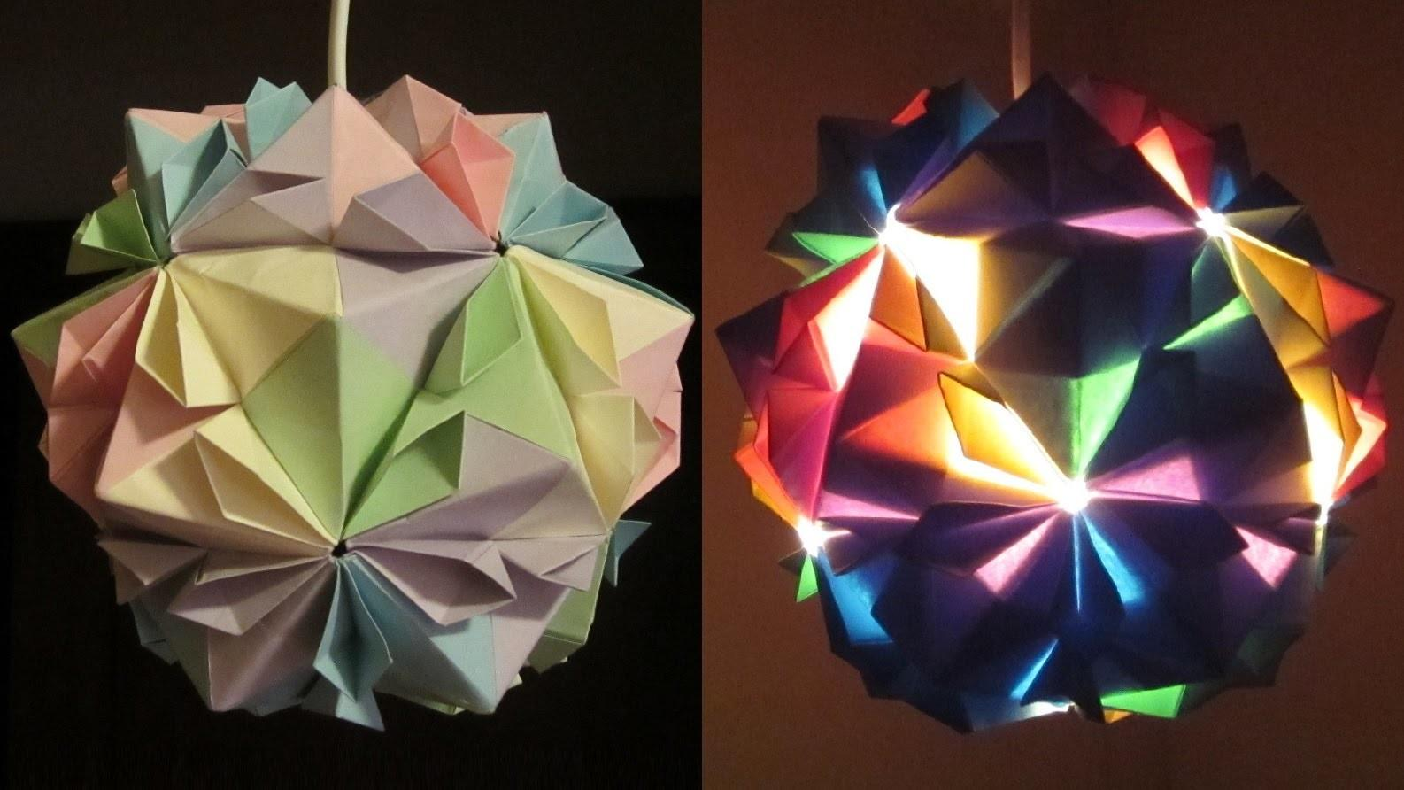 Diy Lamp Flower Ball Learn Make Paper Lampshade Lantern Modular Origami