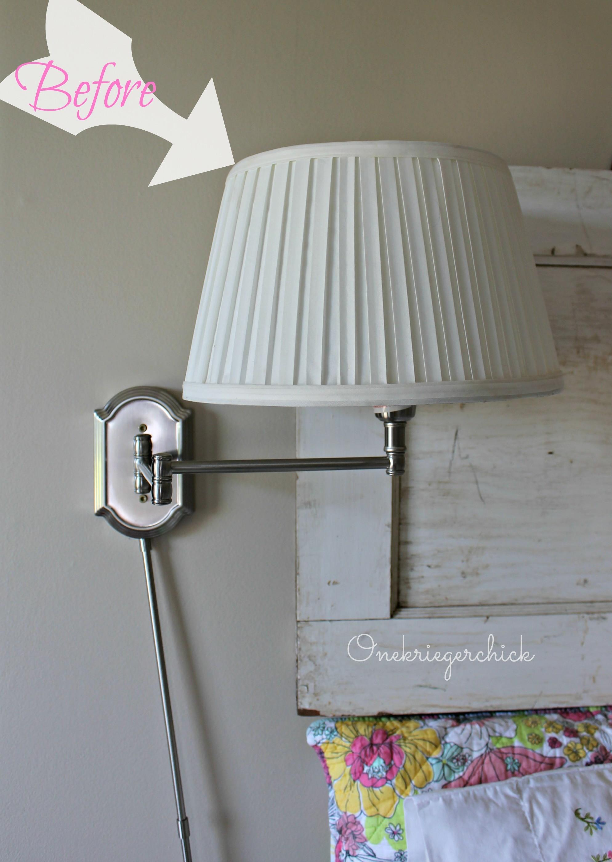 Diy Lampshade Makeover Easy Steps Onekriegerchick