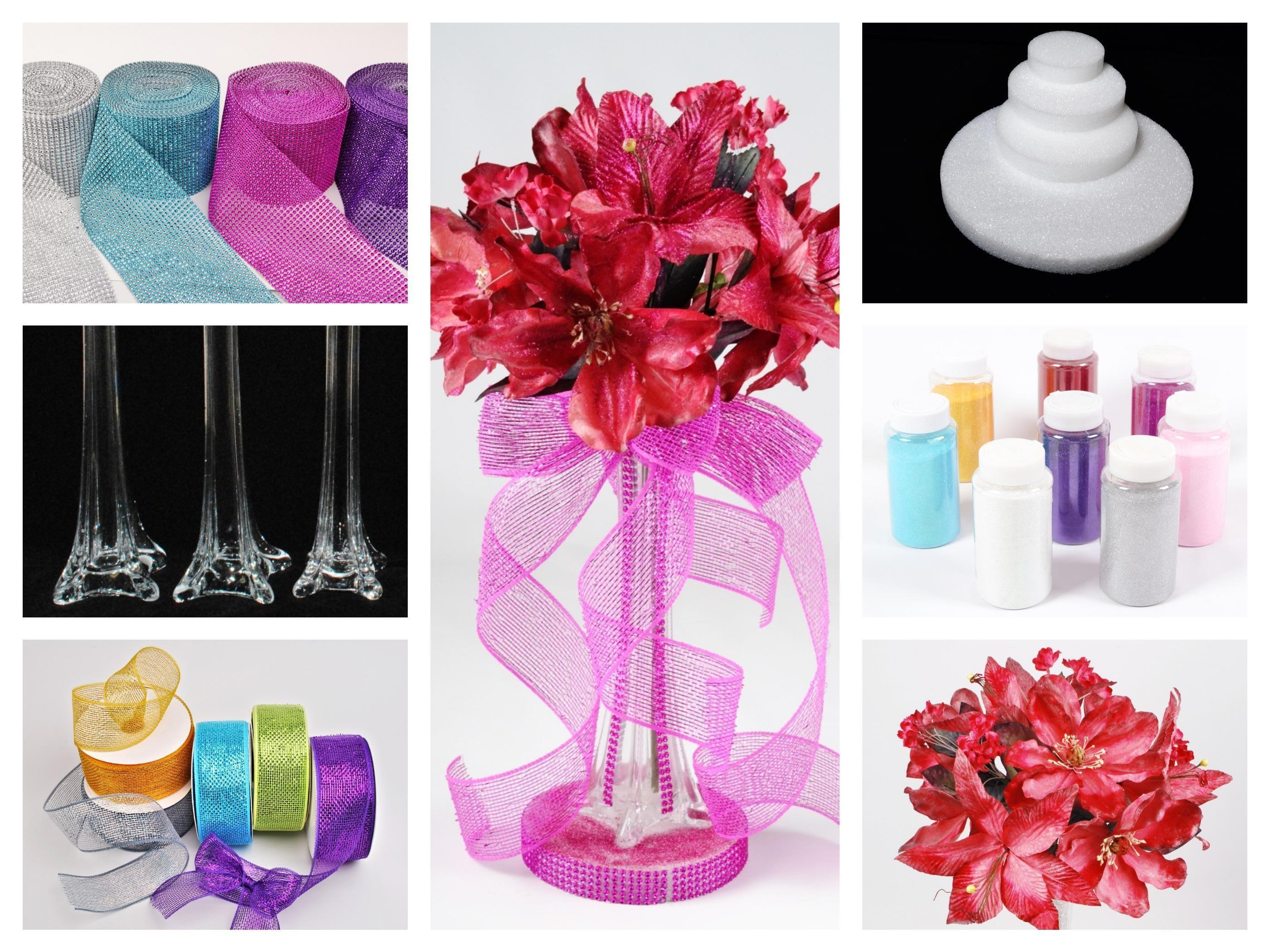 Diy Latex Flower Inside Vase Dq105 Quinceanera Mall