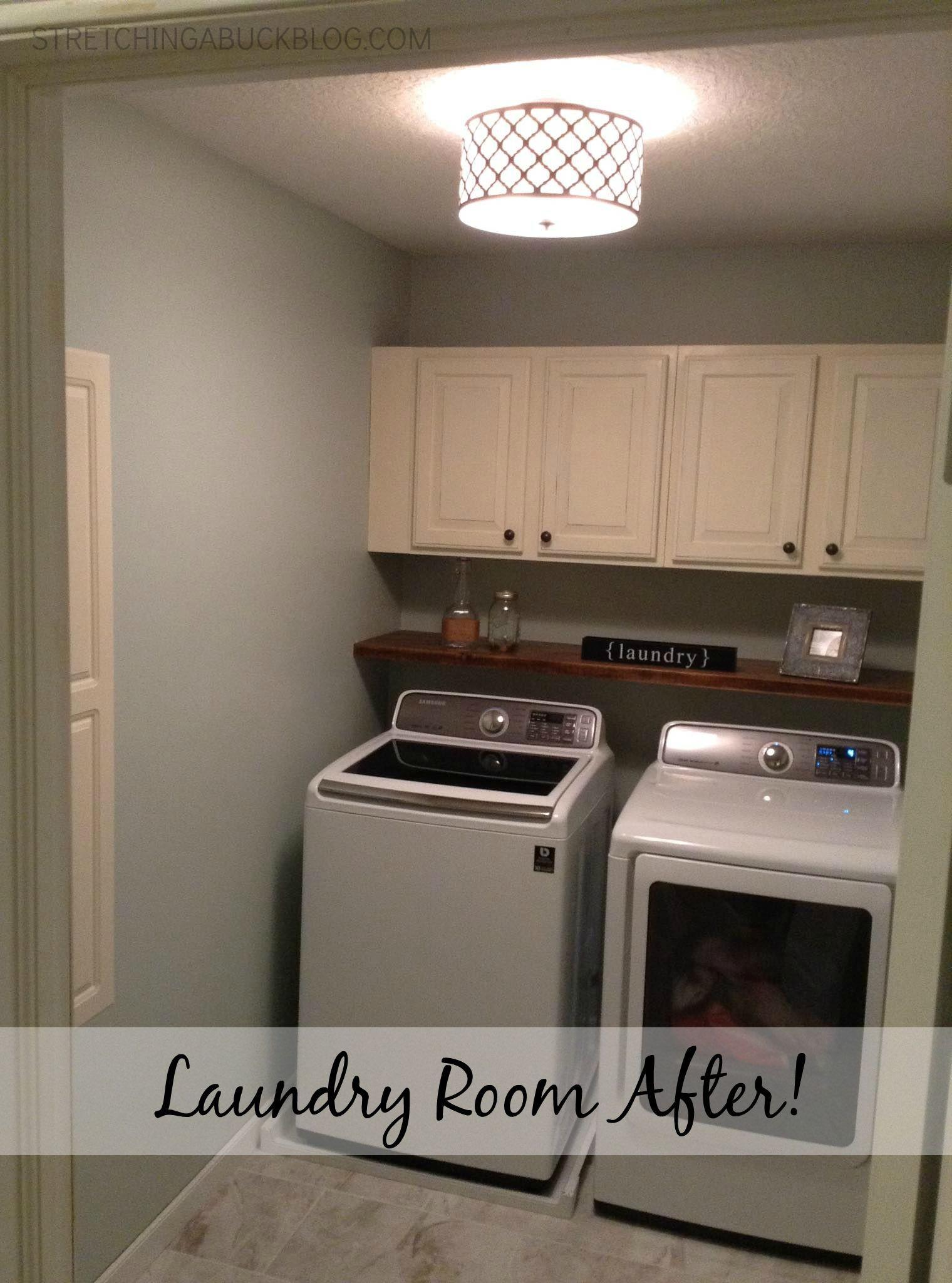 Diy Laundry Room Makeover Stretching Buck