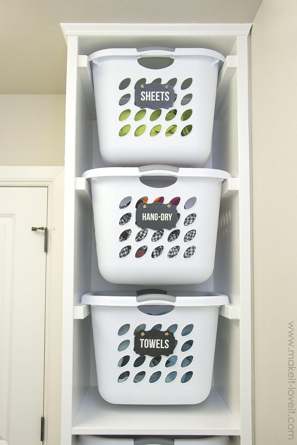 Diy Laundry Sorter White Quick Easy