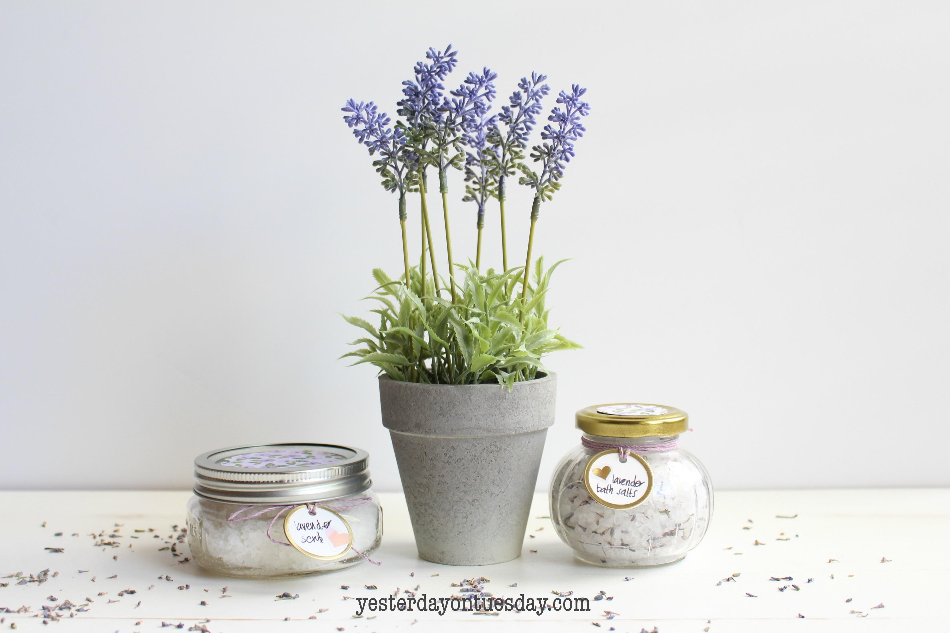 Diy Lavender Spa Basket Yesterday Tuesday