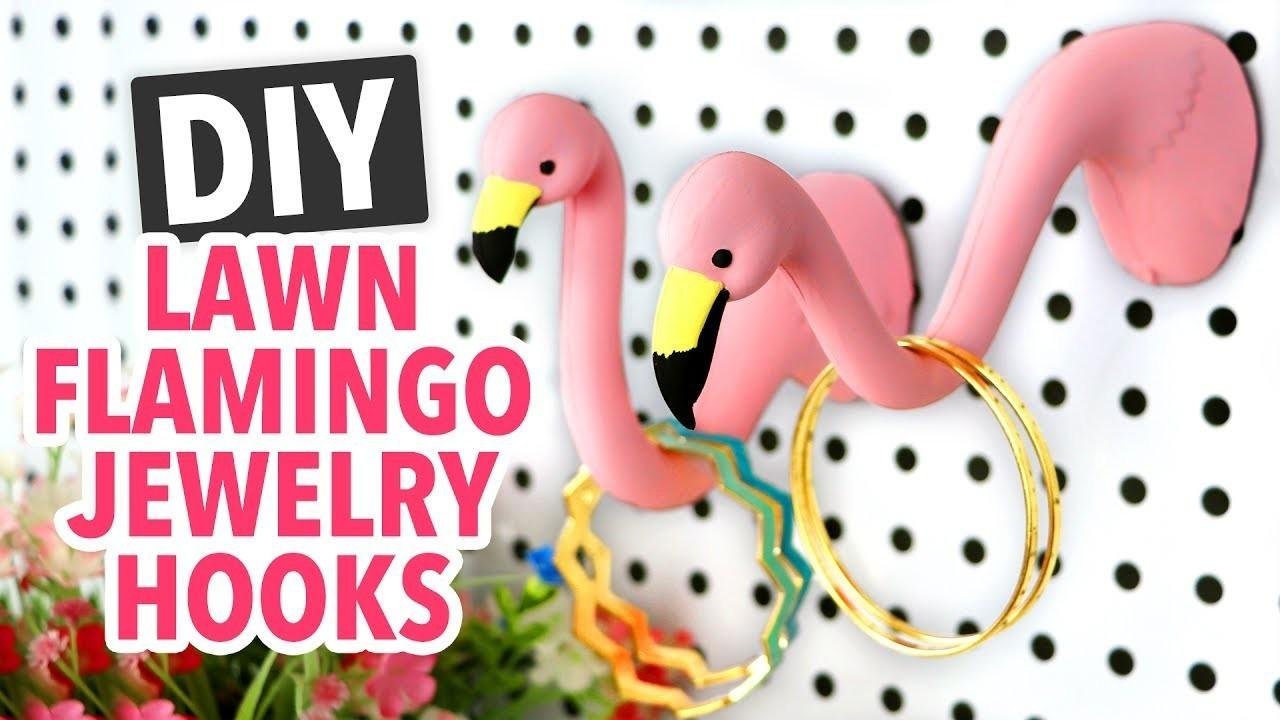Diy Lawn Flamingo Jewelry Hooks Handmade Crafts