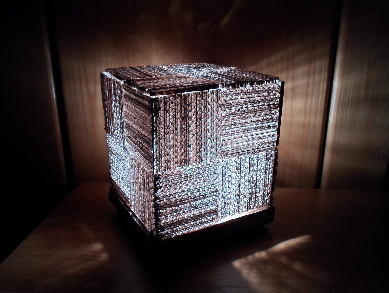 Diy Learn Make Cool Cube Lamp Using Recycled