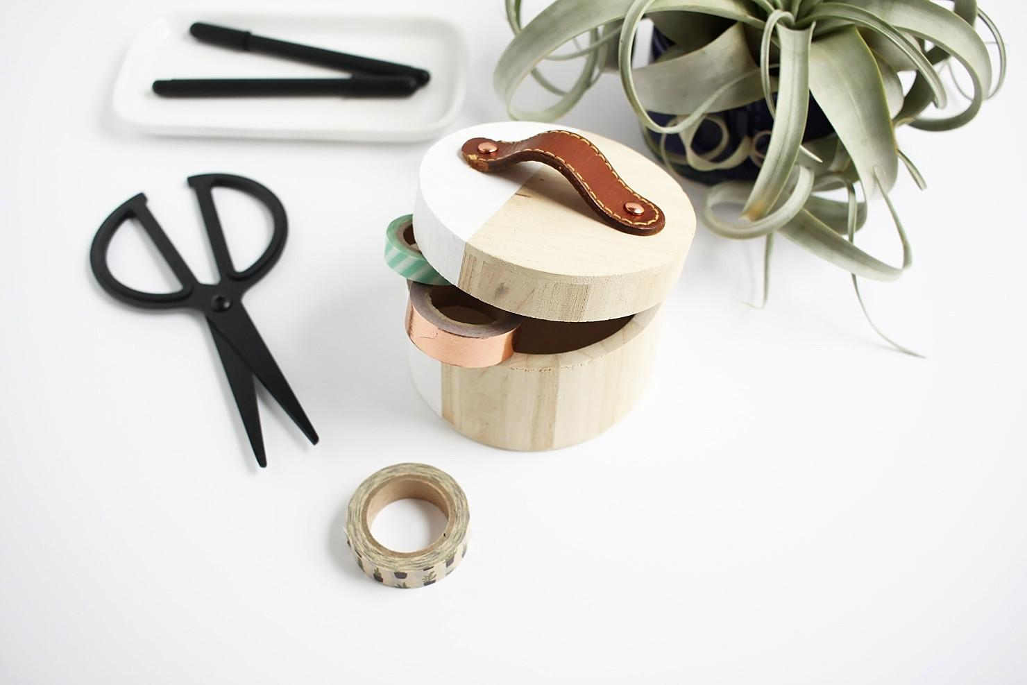 Diy Leather Box Handles Using Thrifted Belts Idle Hands Awake