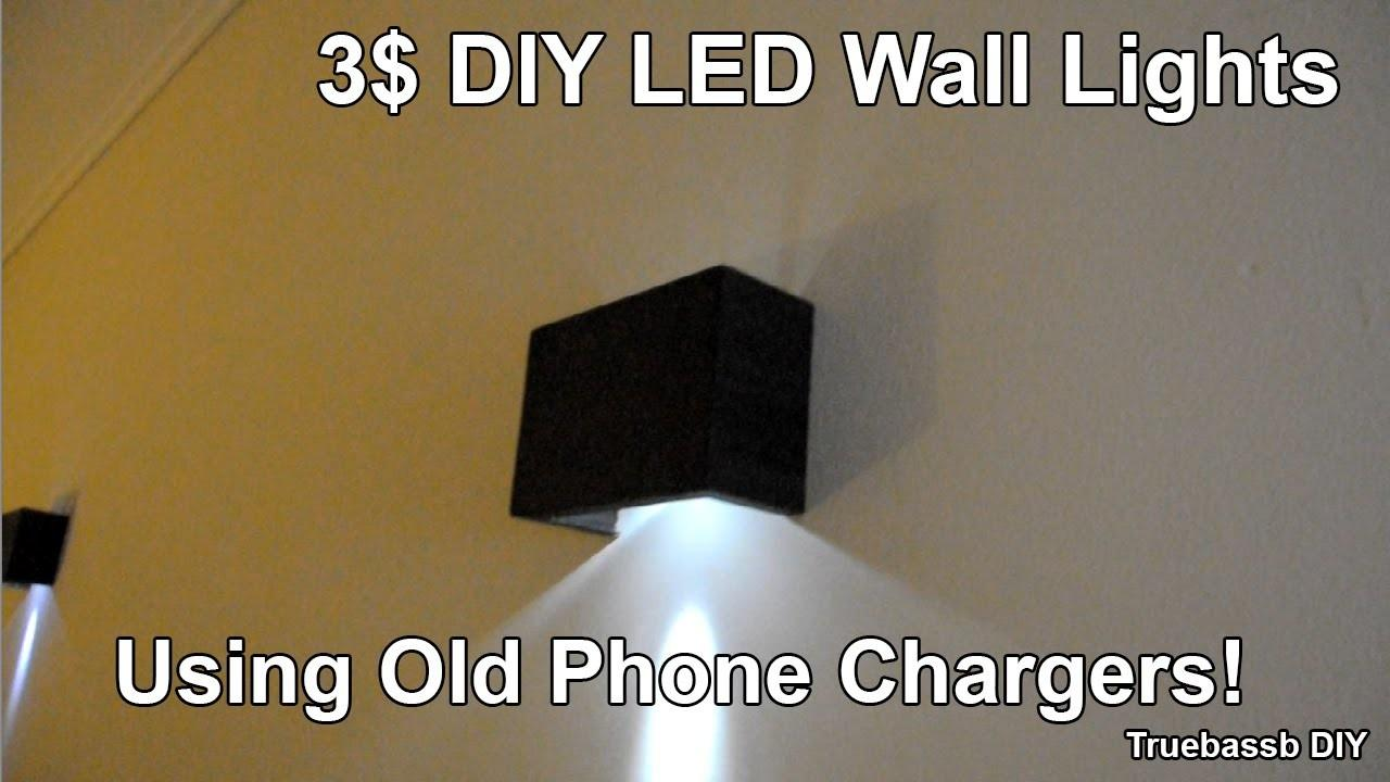 Diy Led Wall Sconces Using Old Phone Chargers
