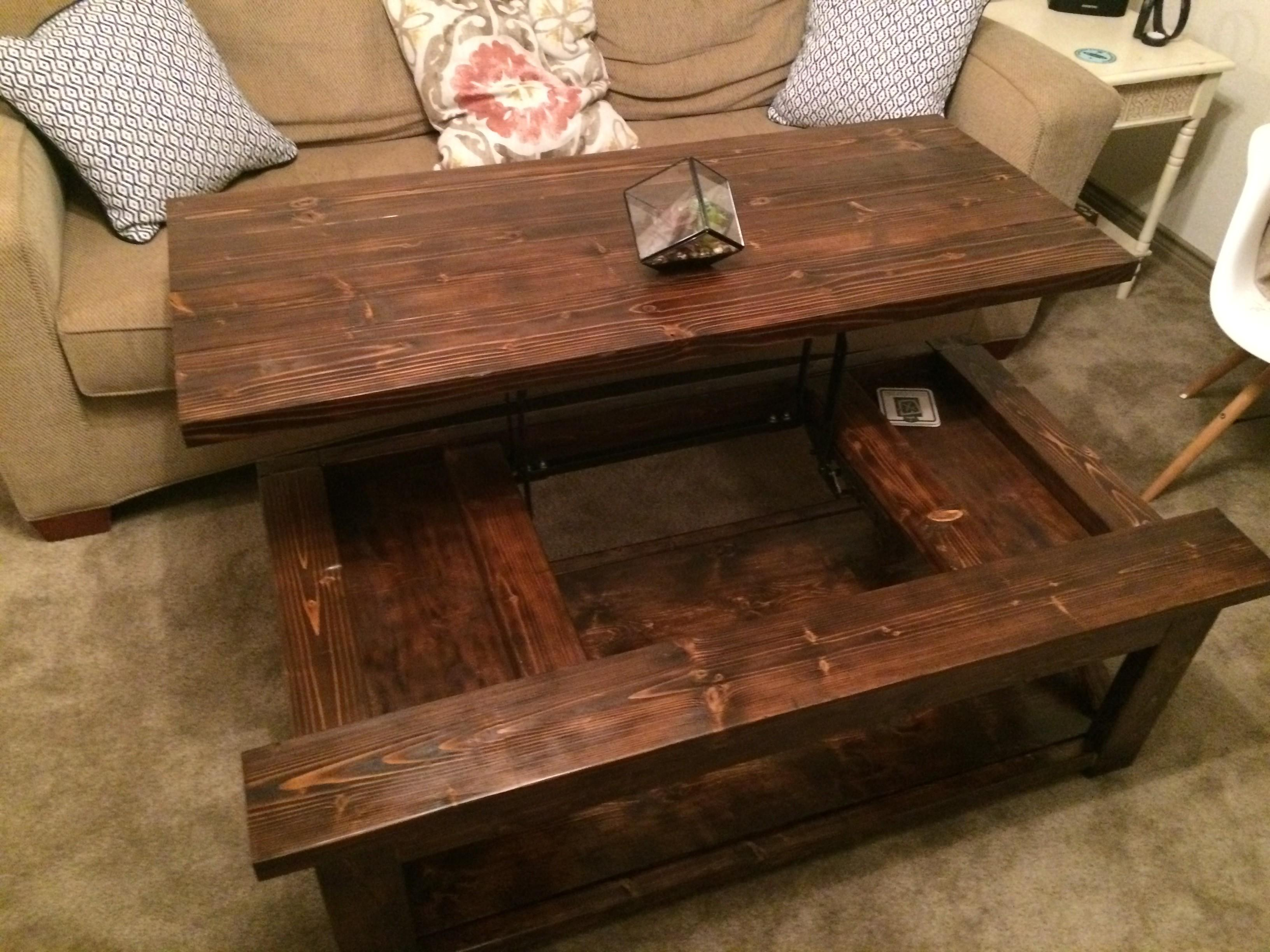 Diy Lift Top Coffee Table