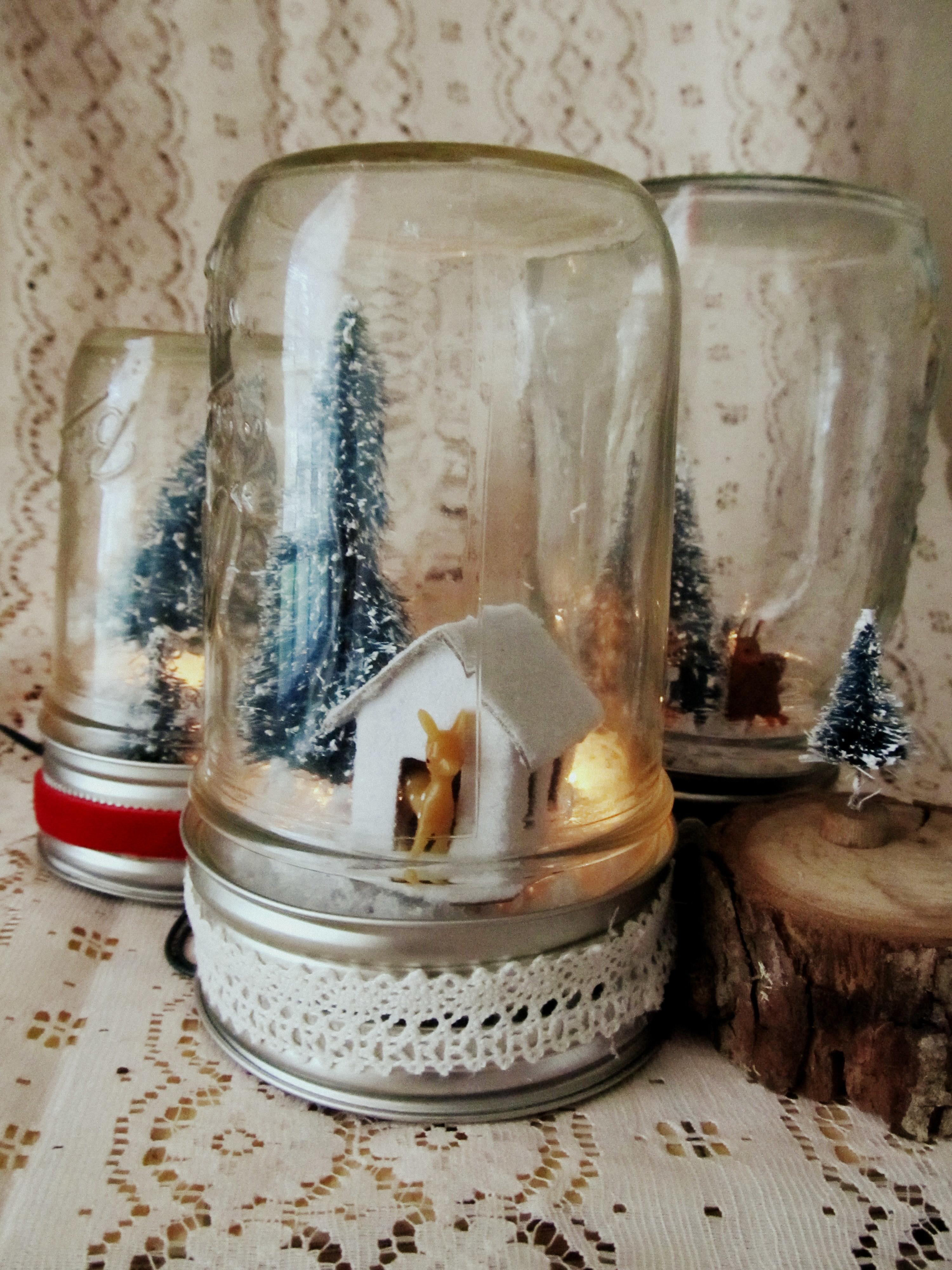Diy Light Mason Jar Christmas Scene