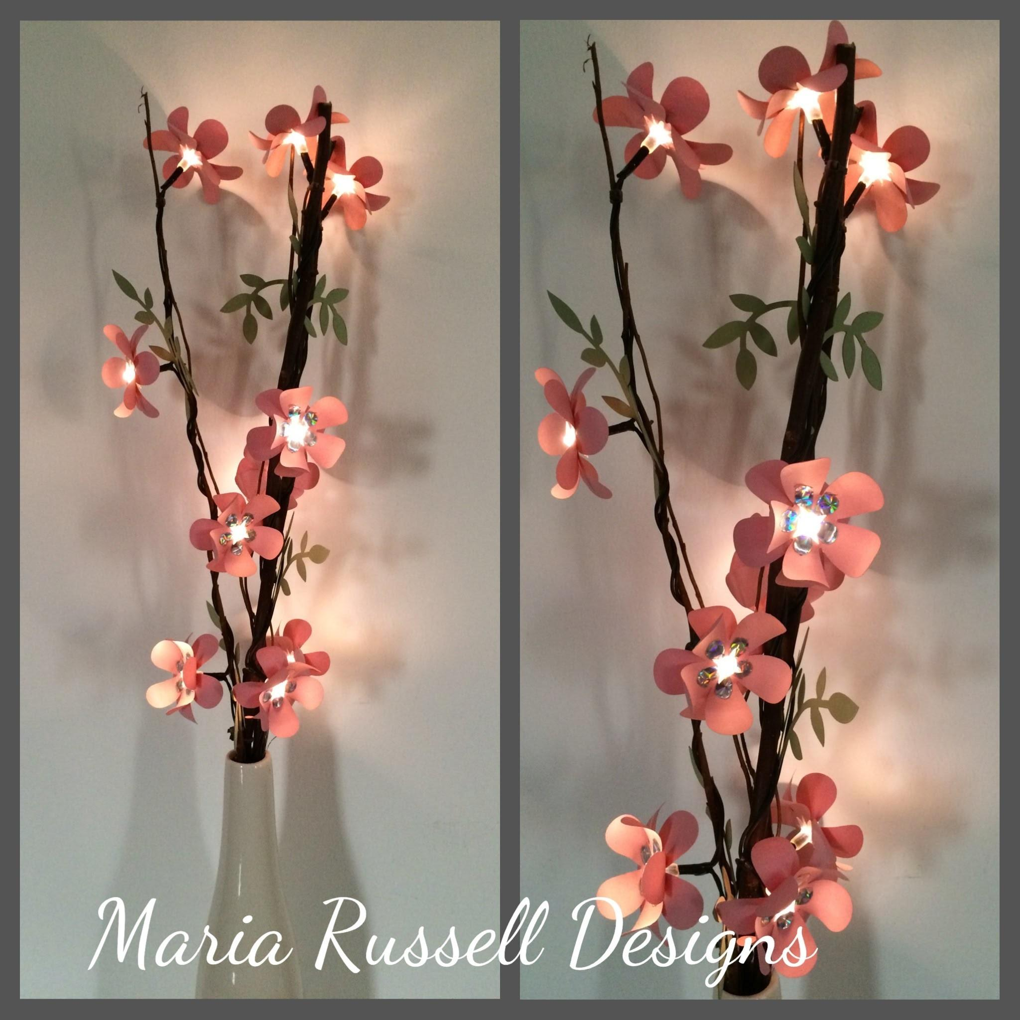 Diy Lighted Branch Paper Flowers