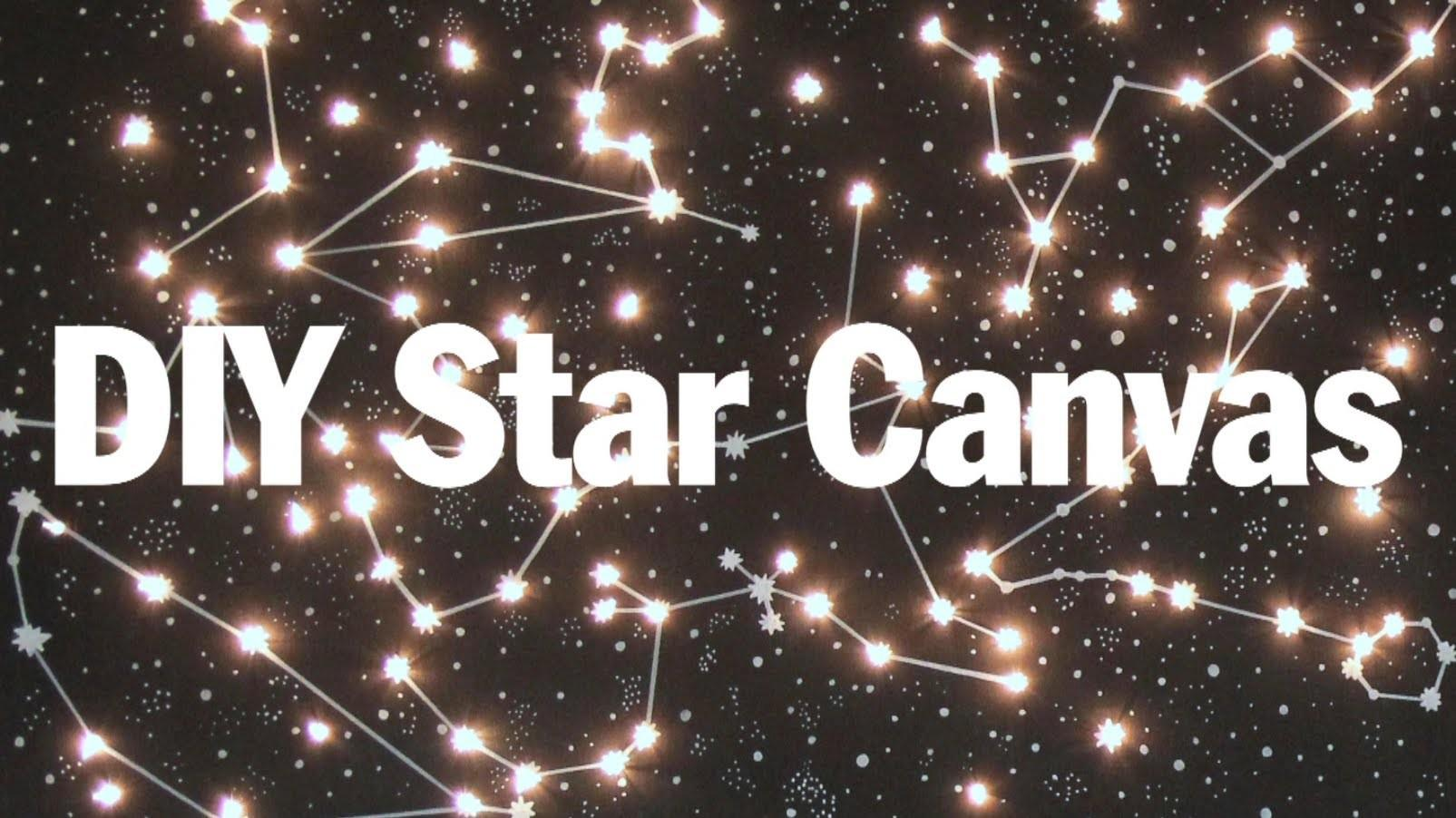 Diy Lighted Constellation Canvas Purty