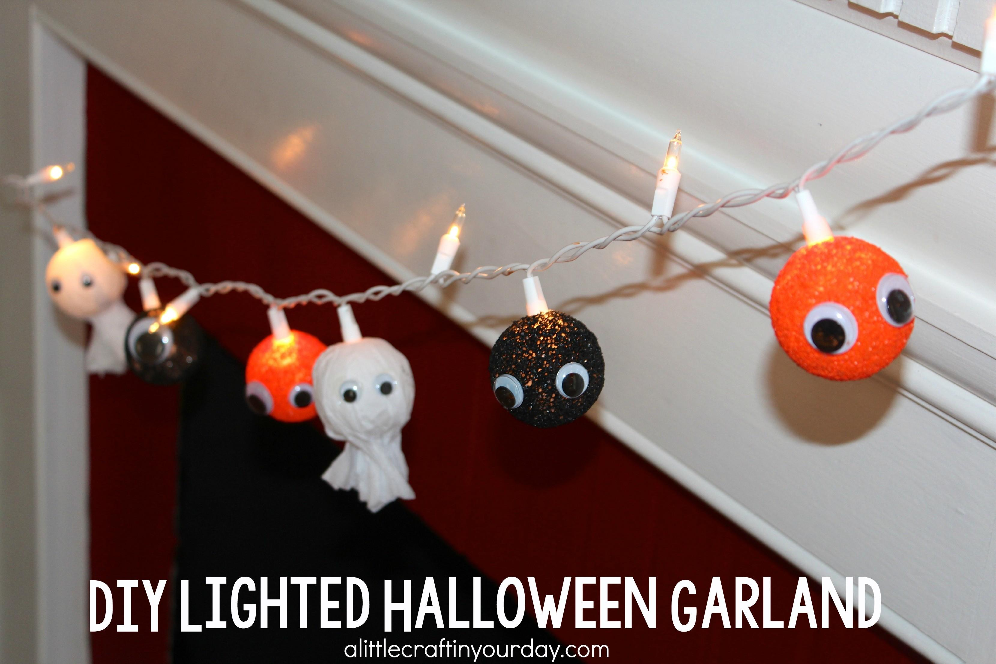 Diy Lighted Halloween Garland Little Craft Your Day